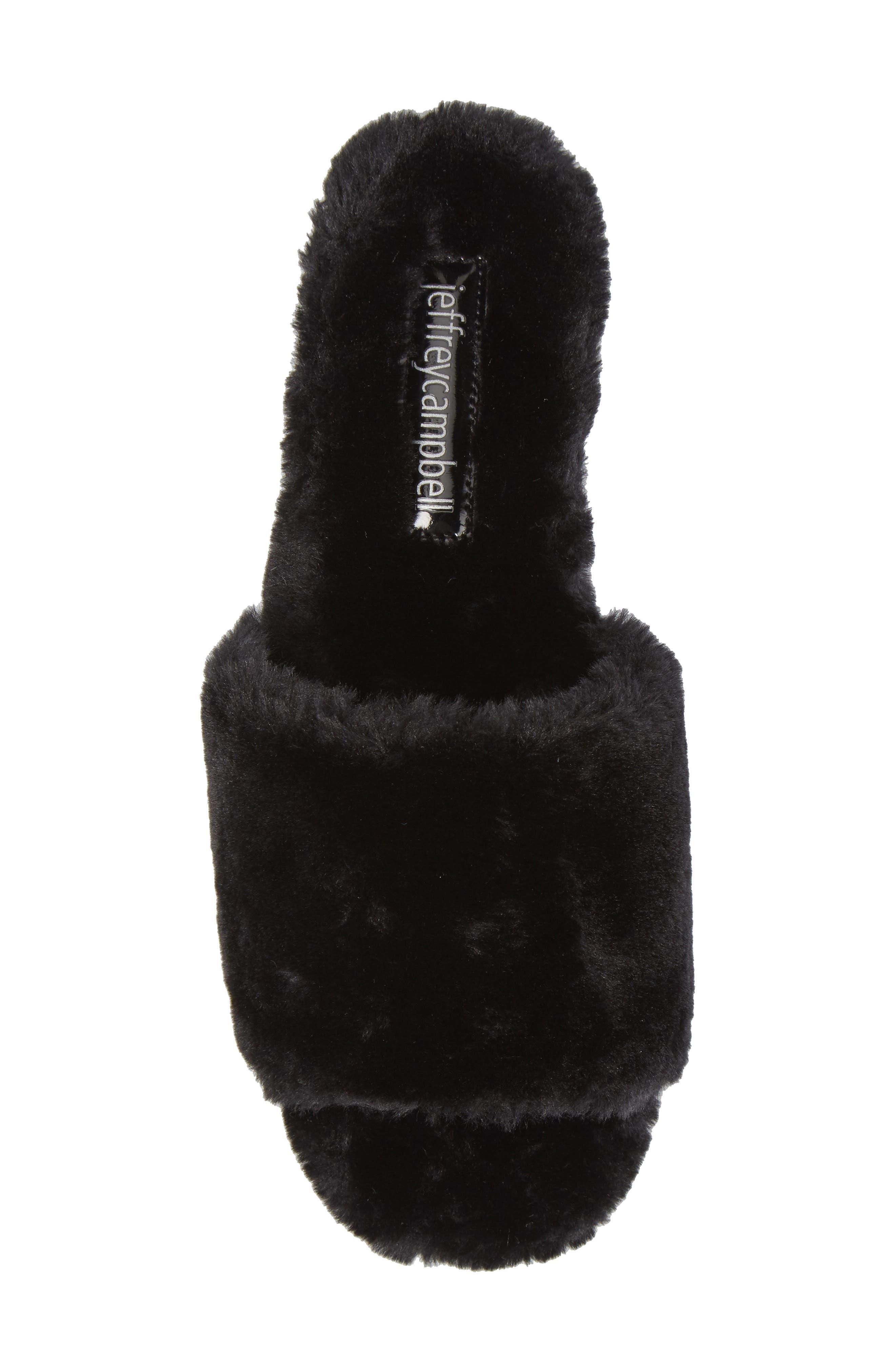 Motel-F Faux Fur Slide Sandal,                             Alternate thumbnail 13, color,