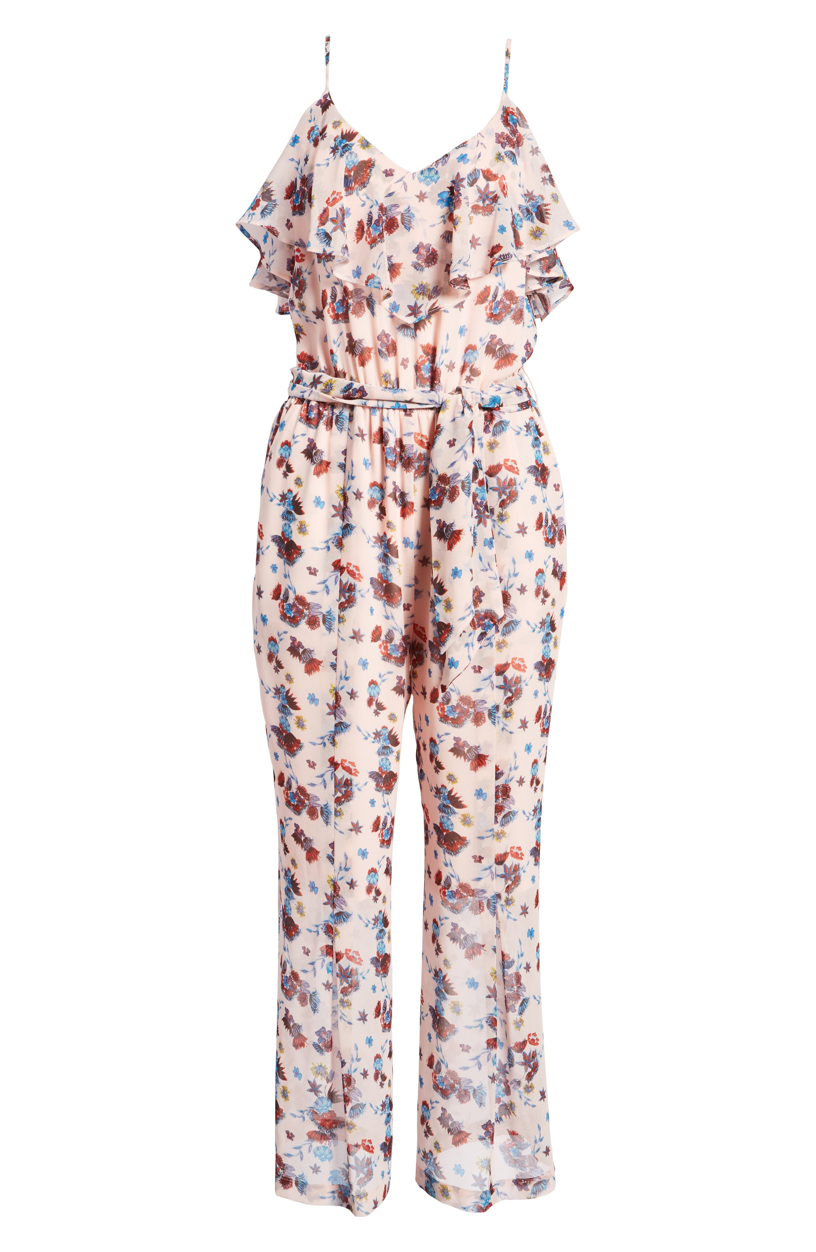 Ruth Jumpsuit,                             Alternate thumbnail 7, color,                             PINK MULTI