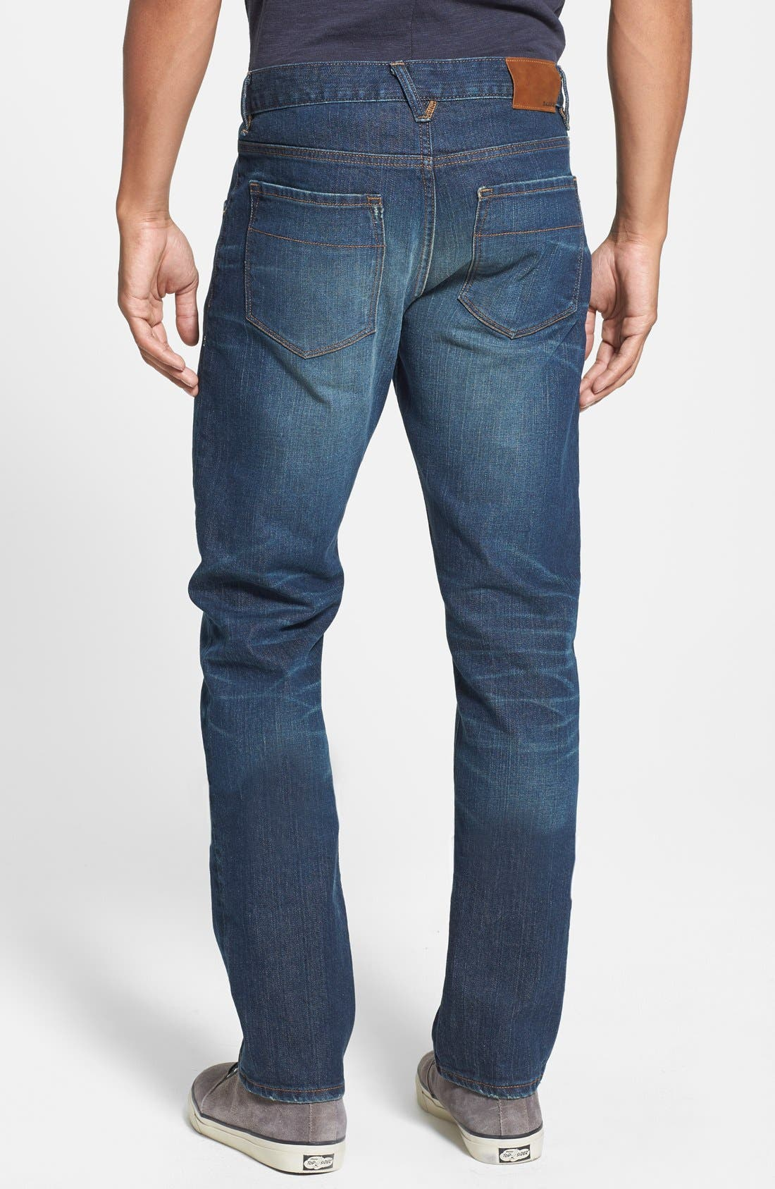 'Jones' Slim Straight Fit Jeans,                             Alternate thumbnail 4, color,                             CAMP