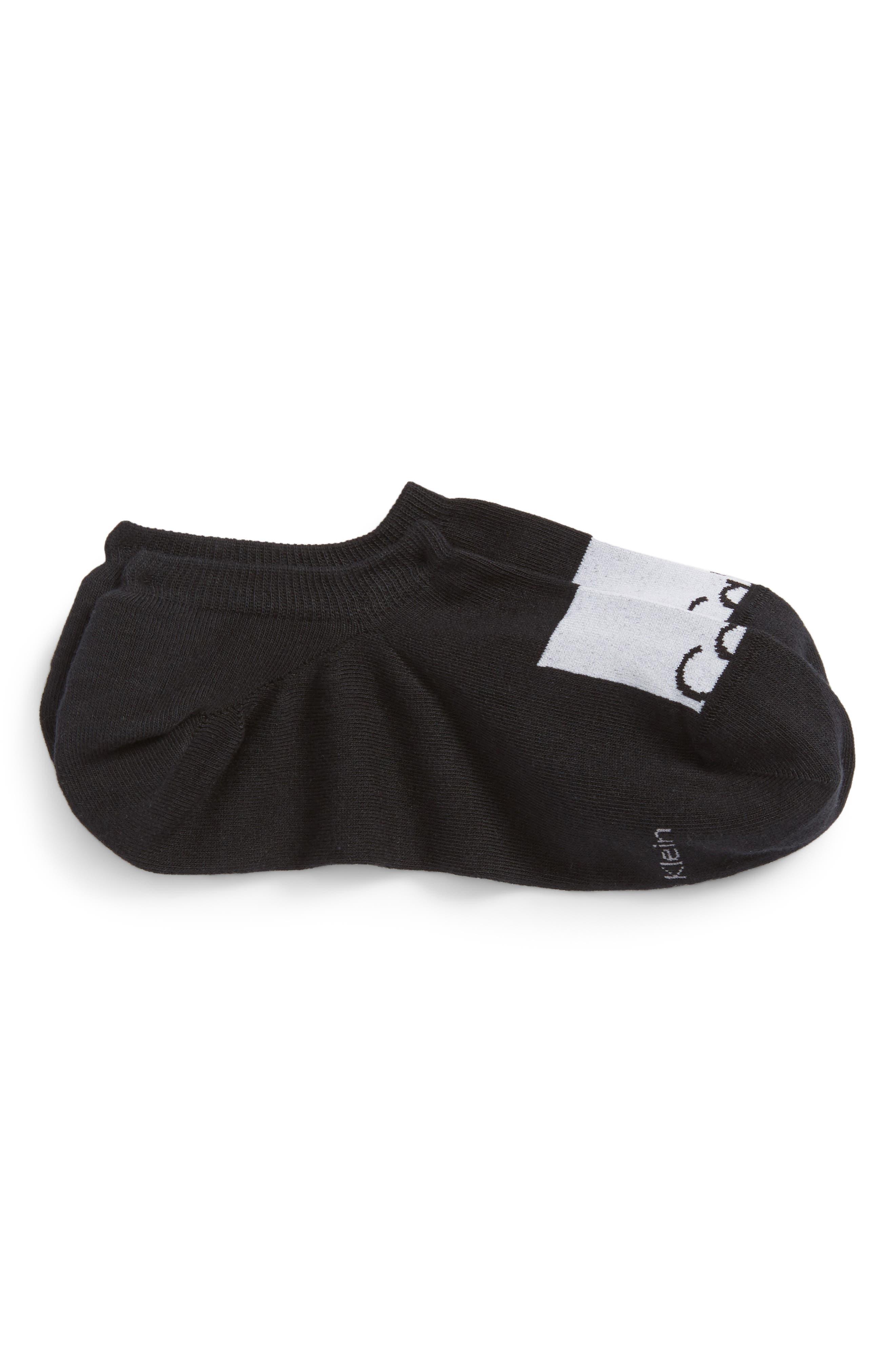 New Gen Logo No-Show Socks,                         Main,                         color, BLACK