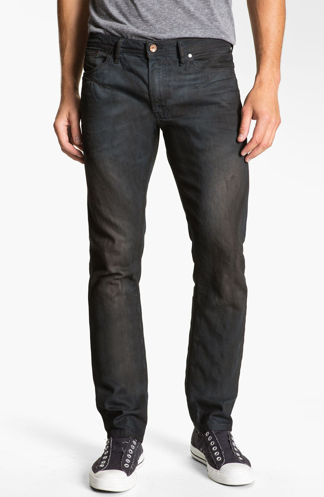 'Shioner' Slim Straight Leg Jeans,                             Alternate thumbnail 3, color,                             400
