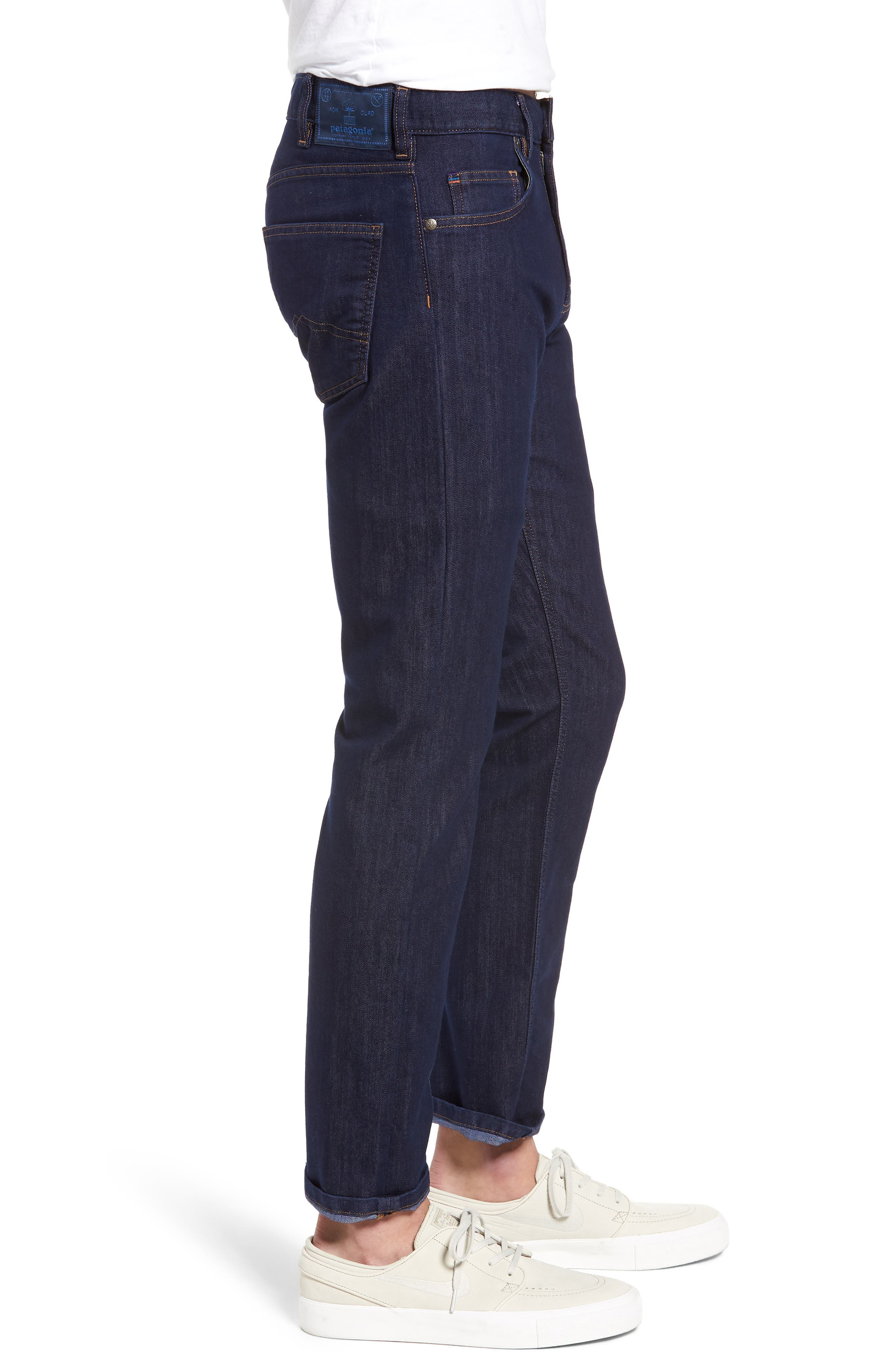 Straight Leg Performance Jeans,                             Alternate thumbnail 3, color,                             DARK DENIM