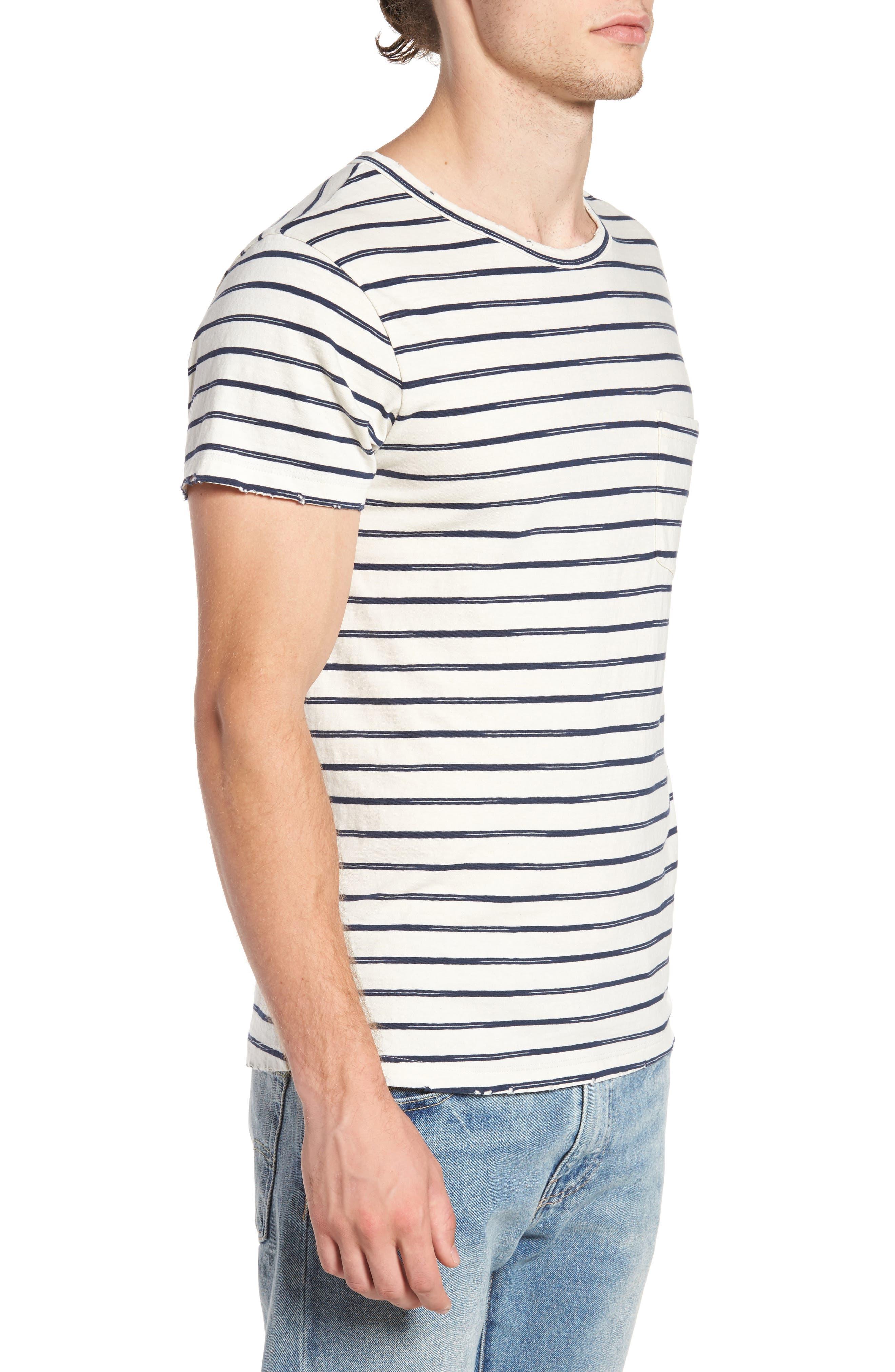 Vintage Stripe Pocket T-Shirt,                             Alternate thumbnail 3, color,                             101