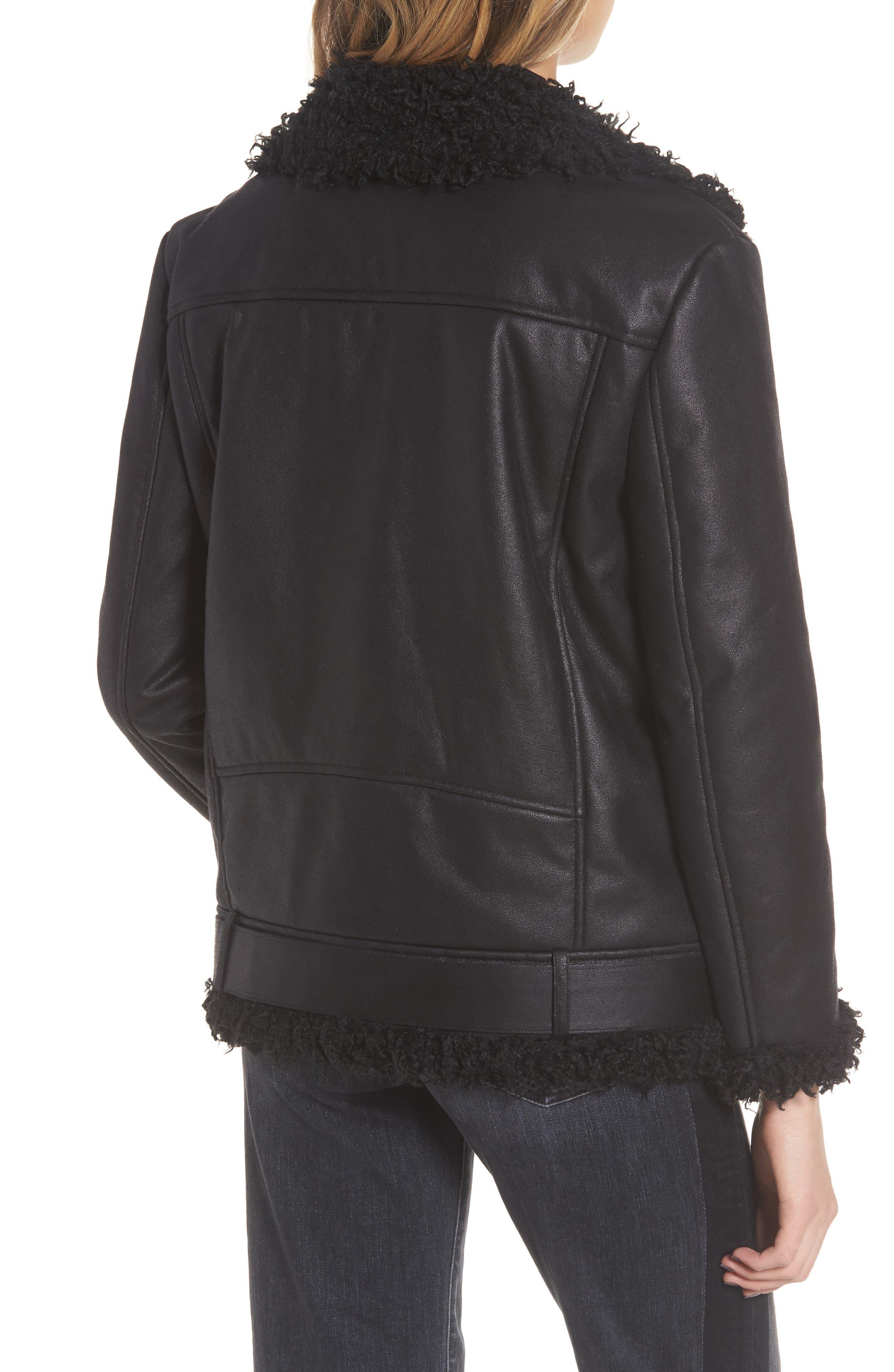 Bosworth Faux Shearling Jacket,                             Alternate thumbnail 2, color,                             001