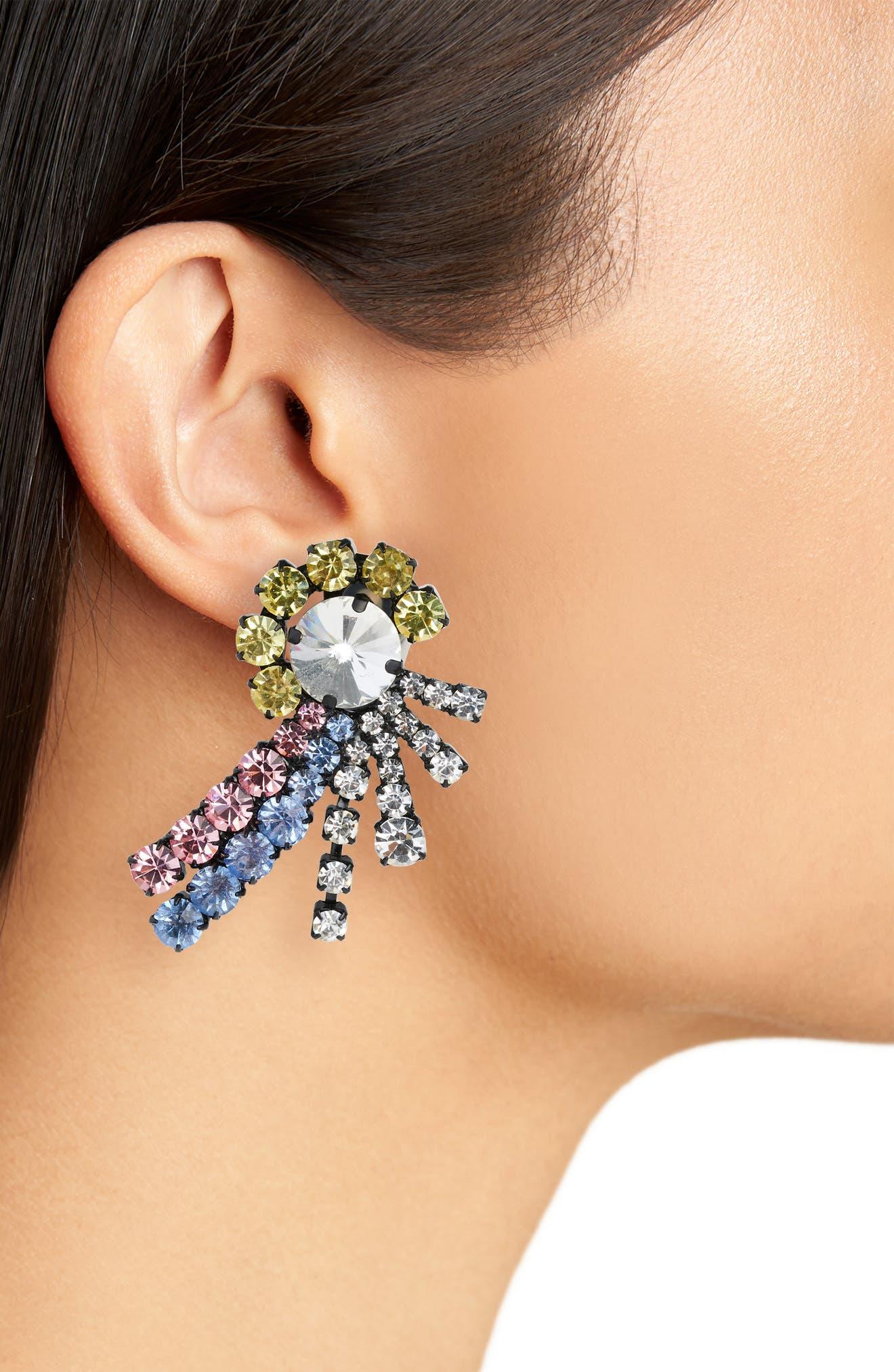 Katie Crystal Earrings,                             Alternate thumbnail 2, color,                             650