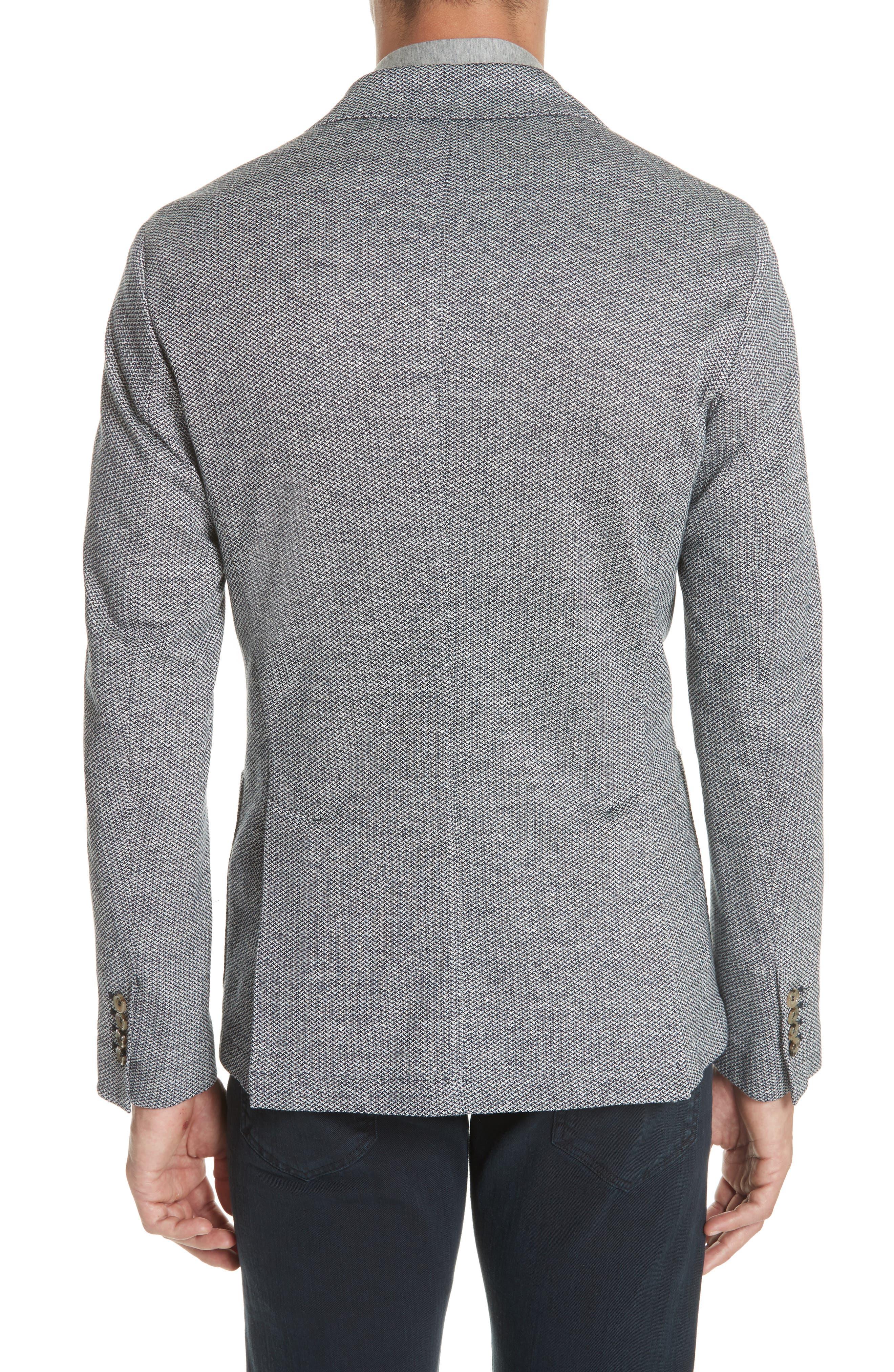 Trim Fit Linen & Cotton Blazer,                             Alternate thumbnail 2, color,                             400