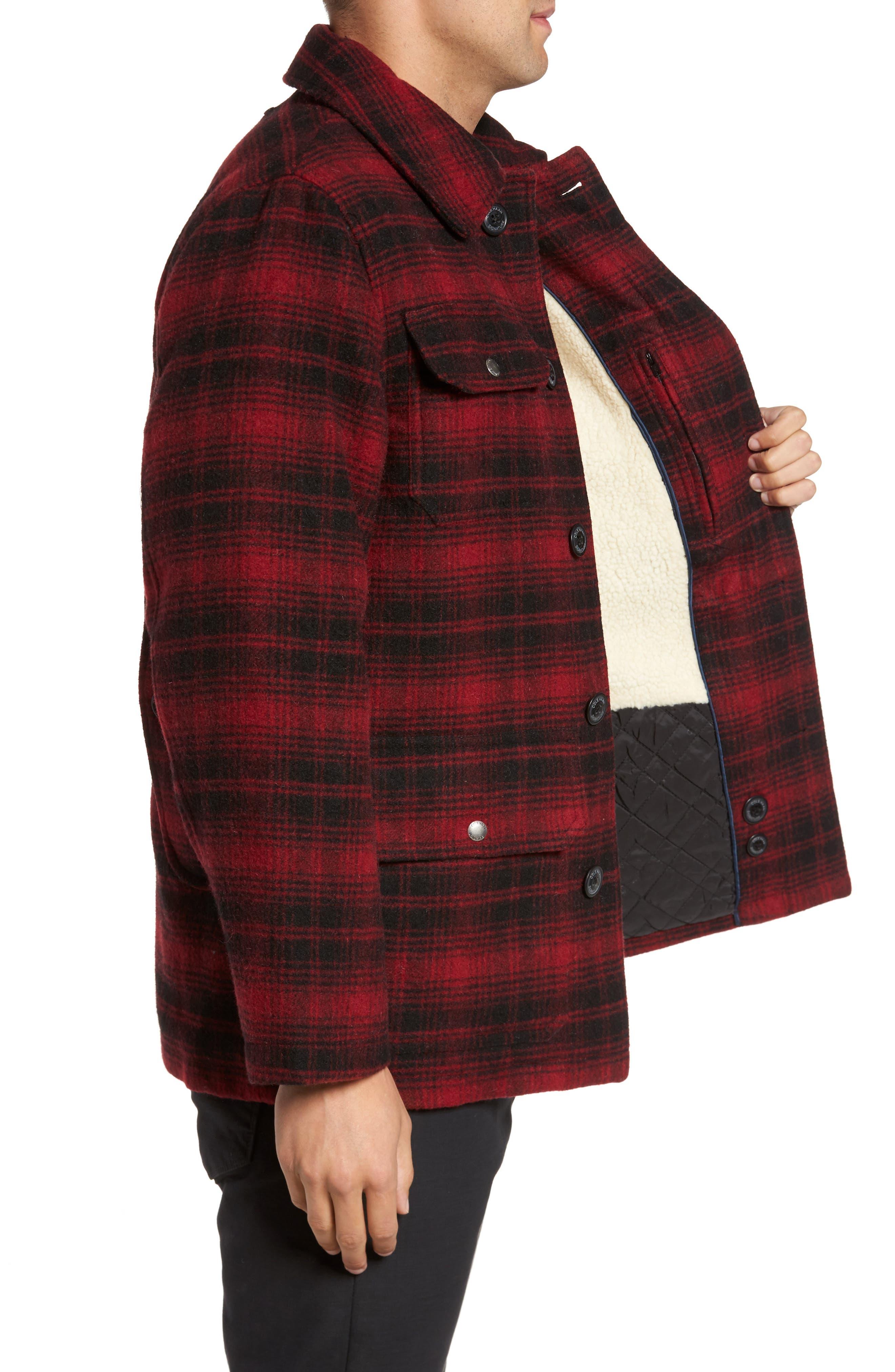 Hunter Jack Wool Blend Shirt Jacket,                             Alternate thumbnail 3, color,