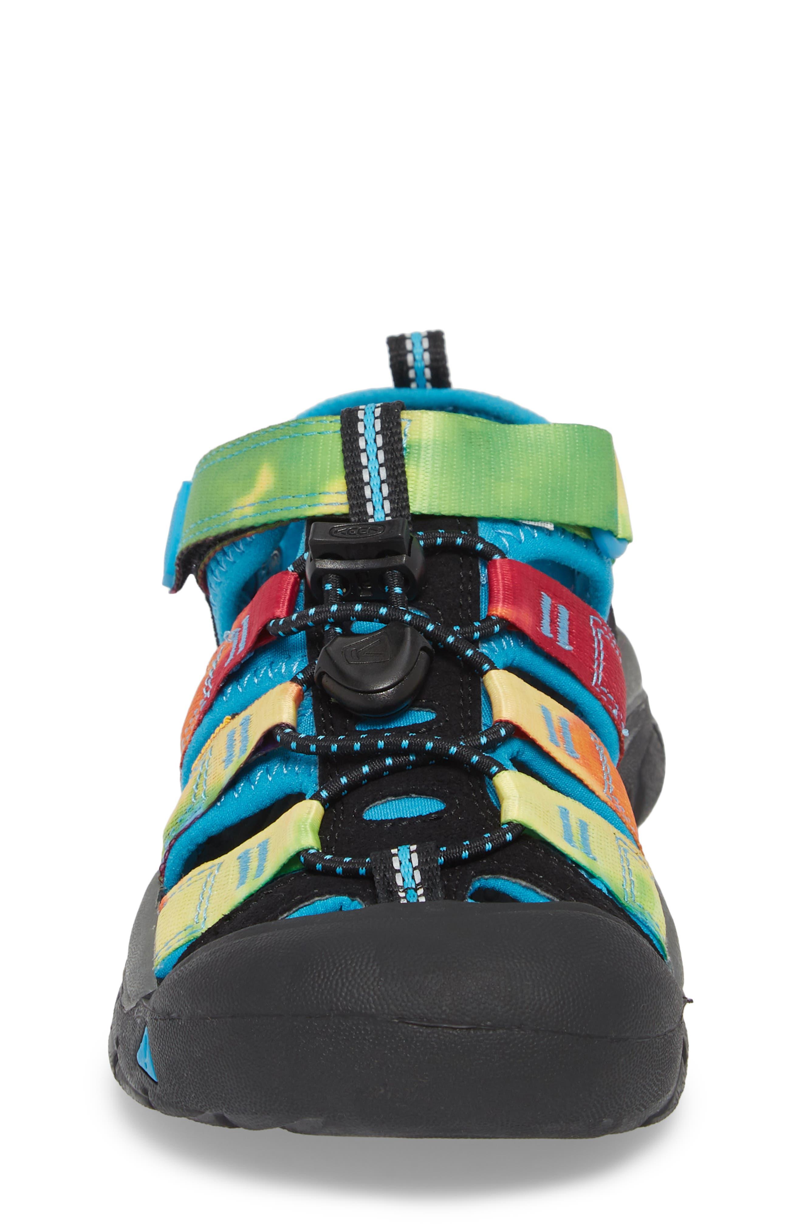 'Newport H2' Water Friendly Sandal,                             Alternate thumbnail 4, color,                             RAINBOW TIE DYE