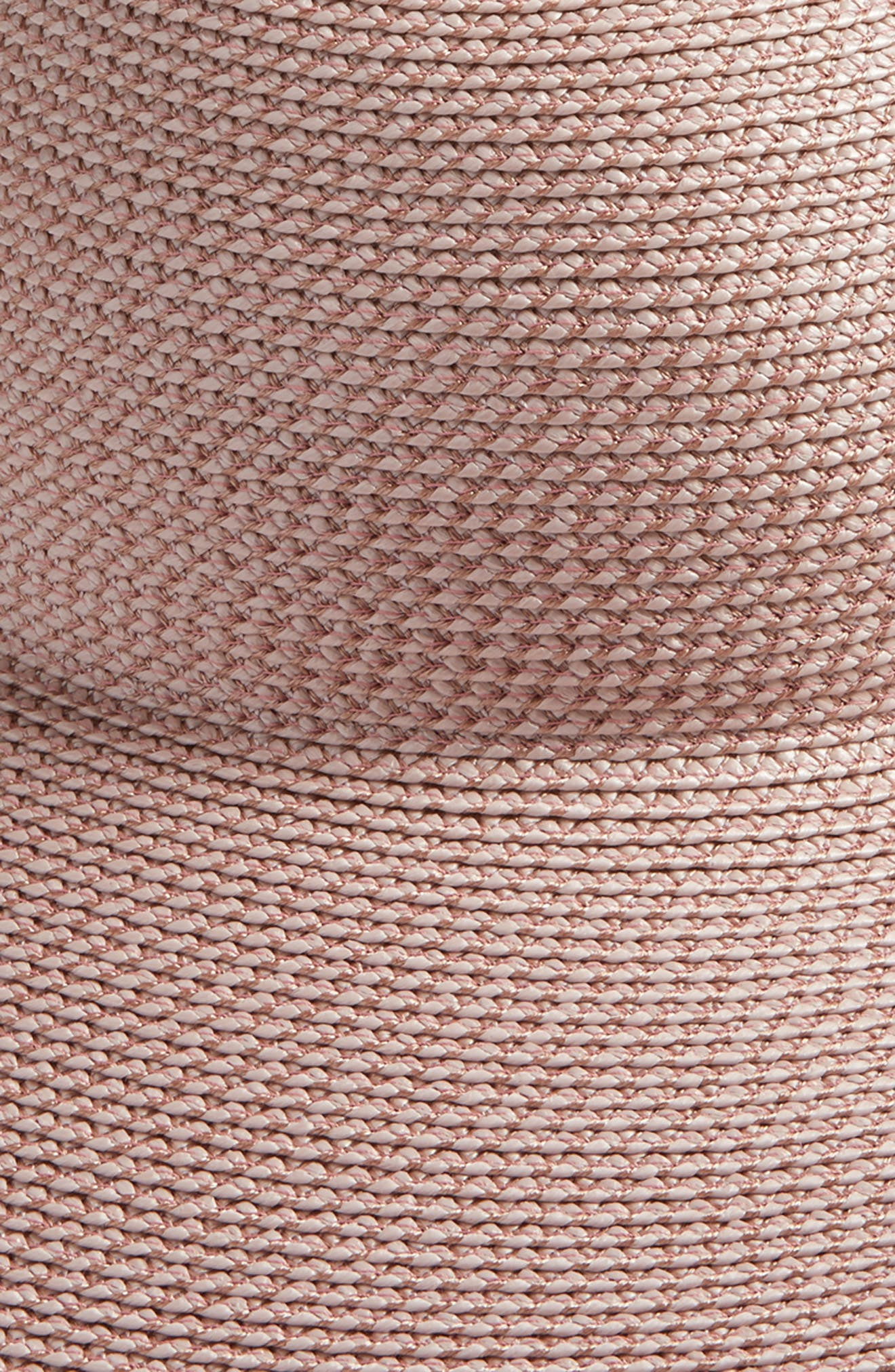 'Hampton' Straw Sun Hat,                             Alternate thumbnail 3, color,                             BLUSH