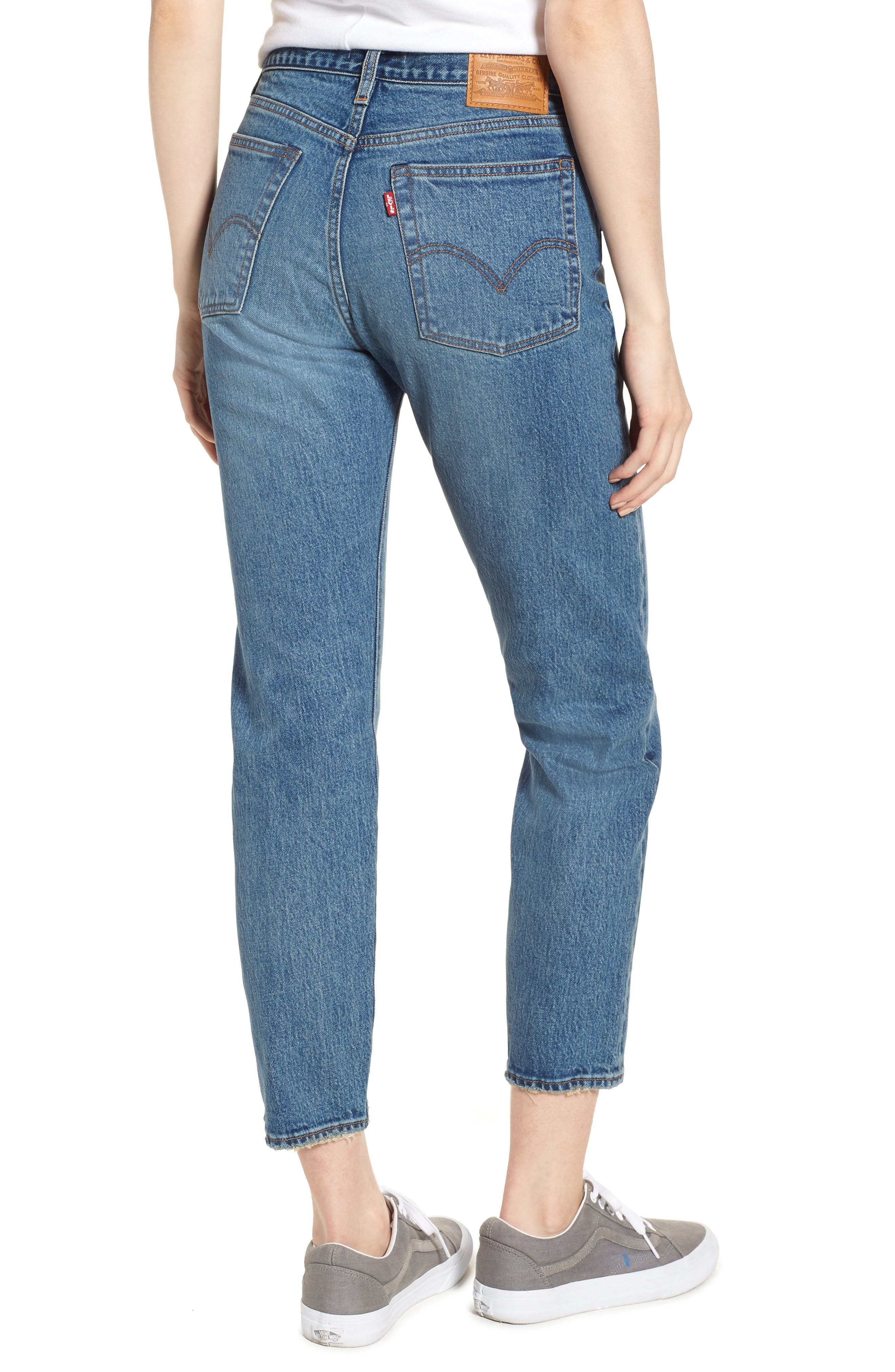Wedgie Icon Fit High Waist Ankle Jeans,                             Alternate thumbnail 2, color,                             THESE DREAMS