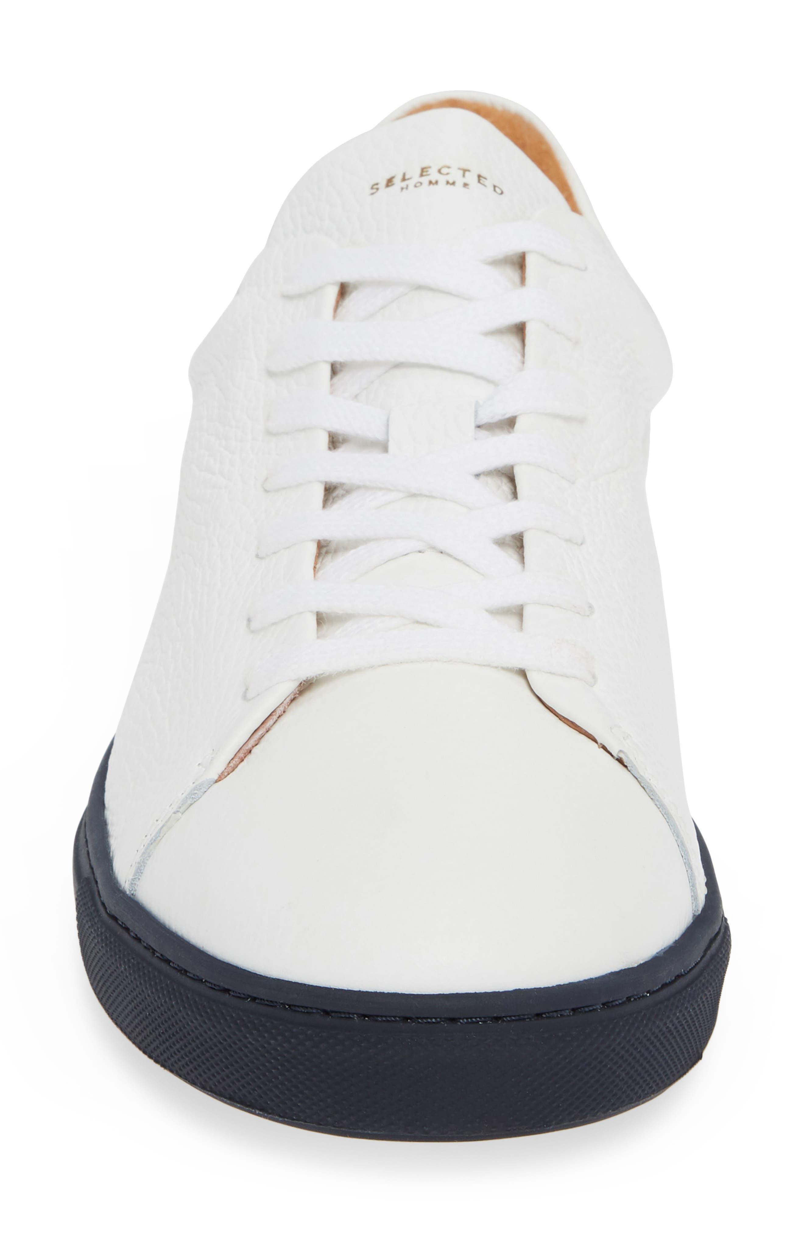 David Sneaker,                             Alternate thumbnail 4, color,                             WHITE/ DARK NAVY SOLE