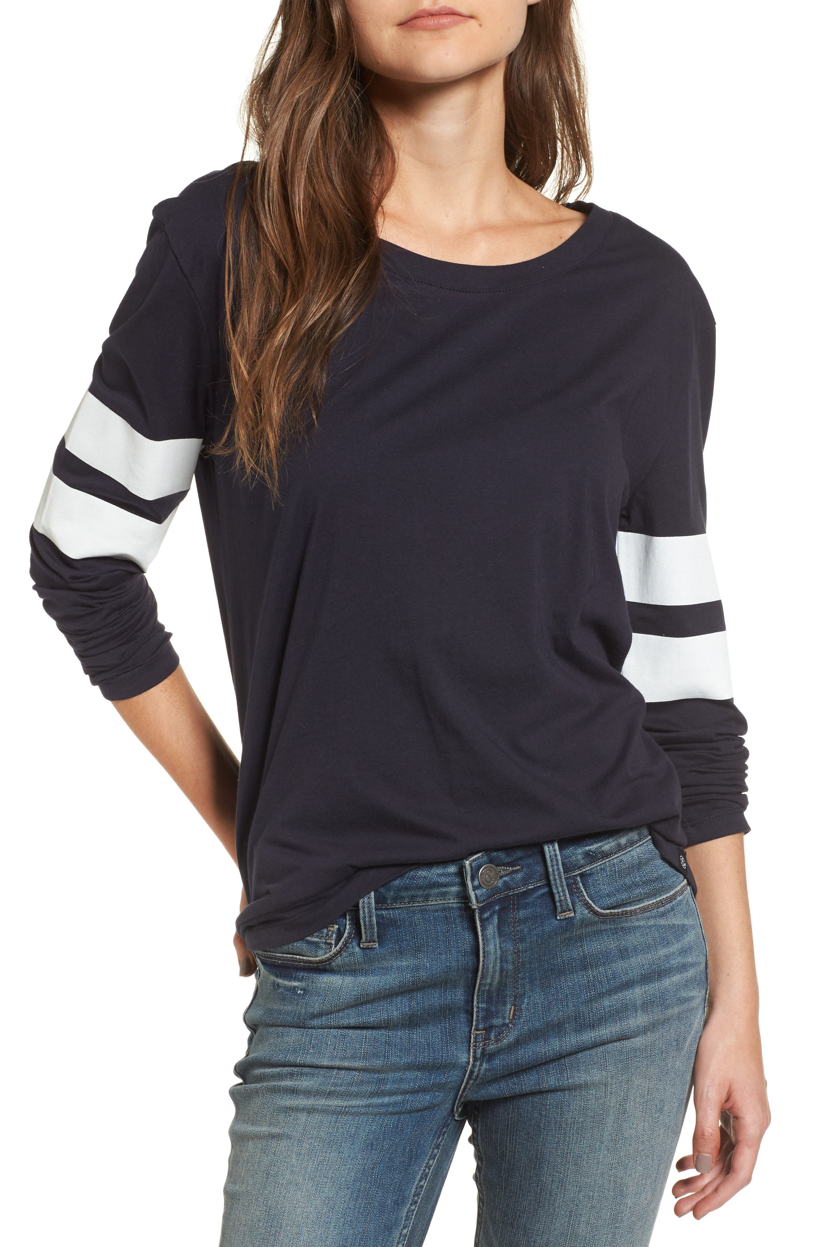 Varsity Stripe Cotton Tee,                             Main thumbnail 12, color,