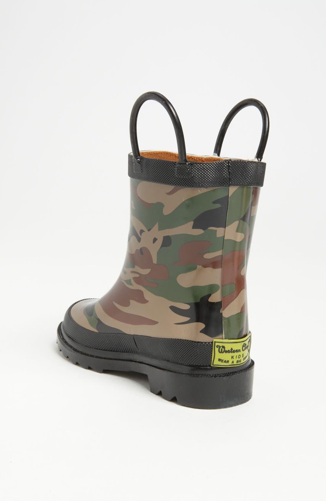 Camo Waterproof Rain Boot,                             Alternate thumbnail 3, color,                             CAMO