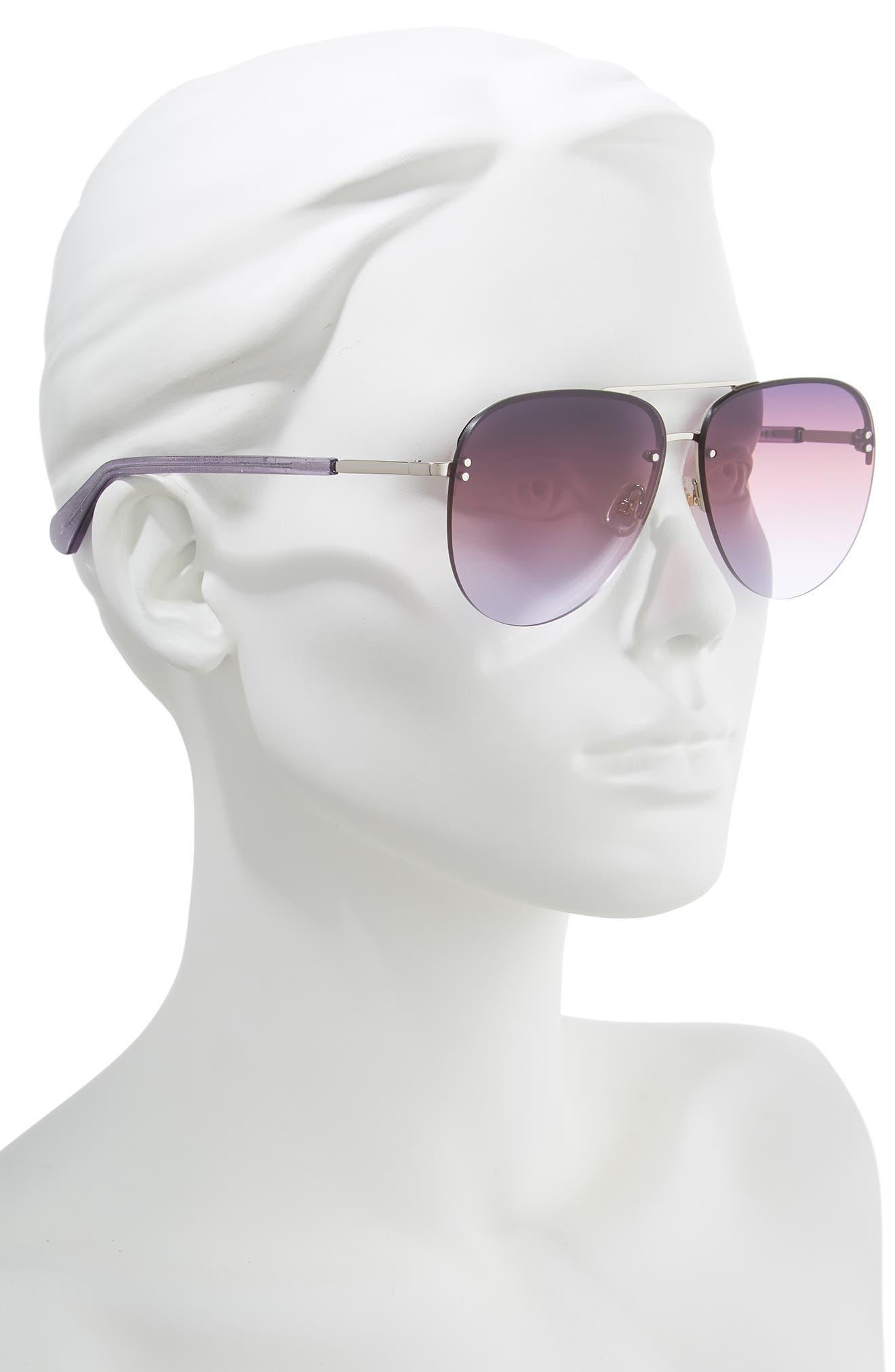 jakaylas 62mm aviator sunglasses,                             Alternate thumbnail 2, color,                             SILVER