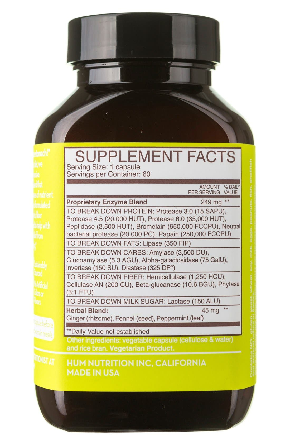 Flatter Me Digestive Enzyme Supplement,                             Alternate thumbnail 7, color,                             NO COLOR