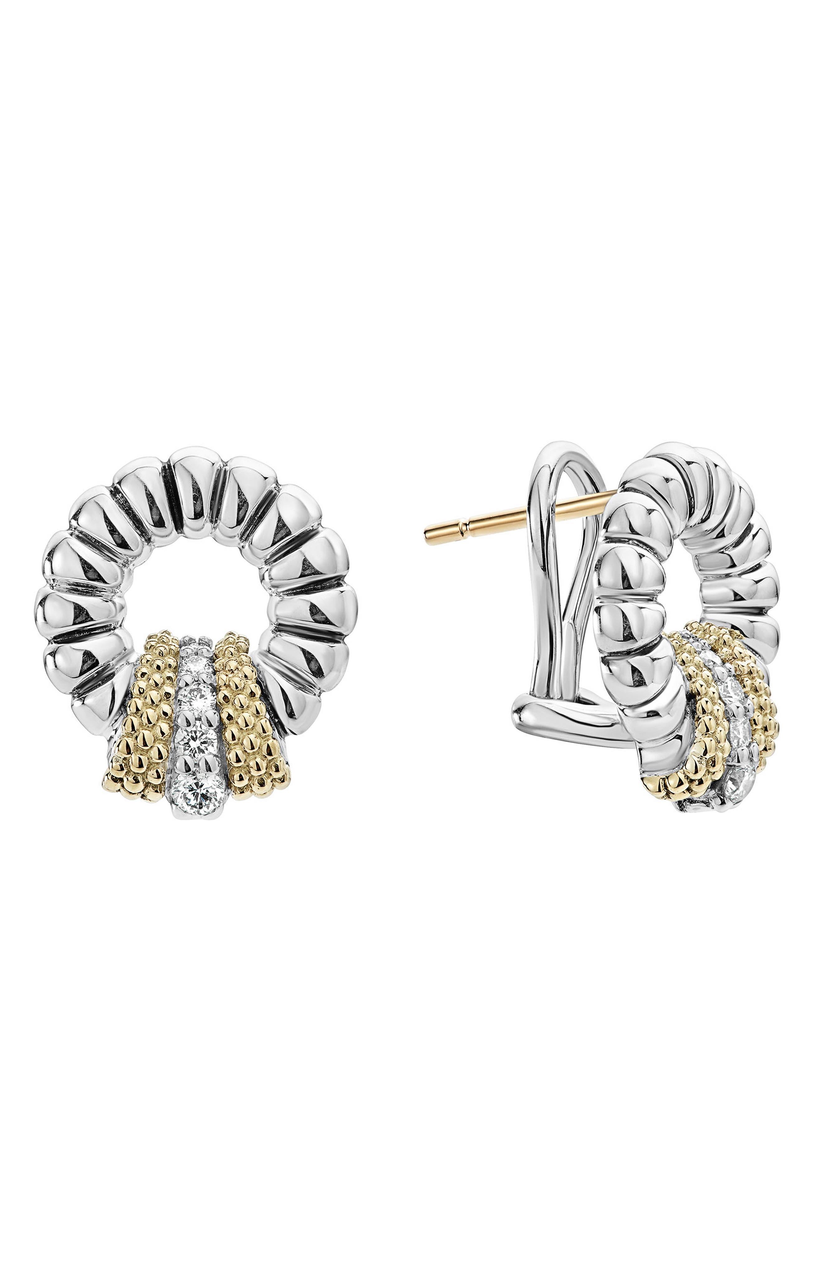 Lux Diamond Stud Earrings,                             Alternate thumbnail 2, color,                             DIAMOND