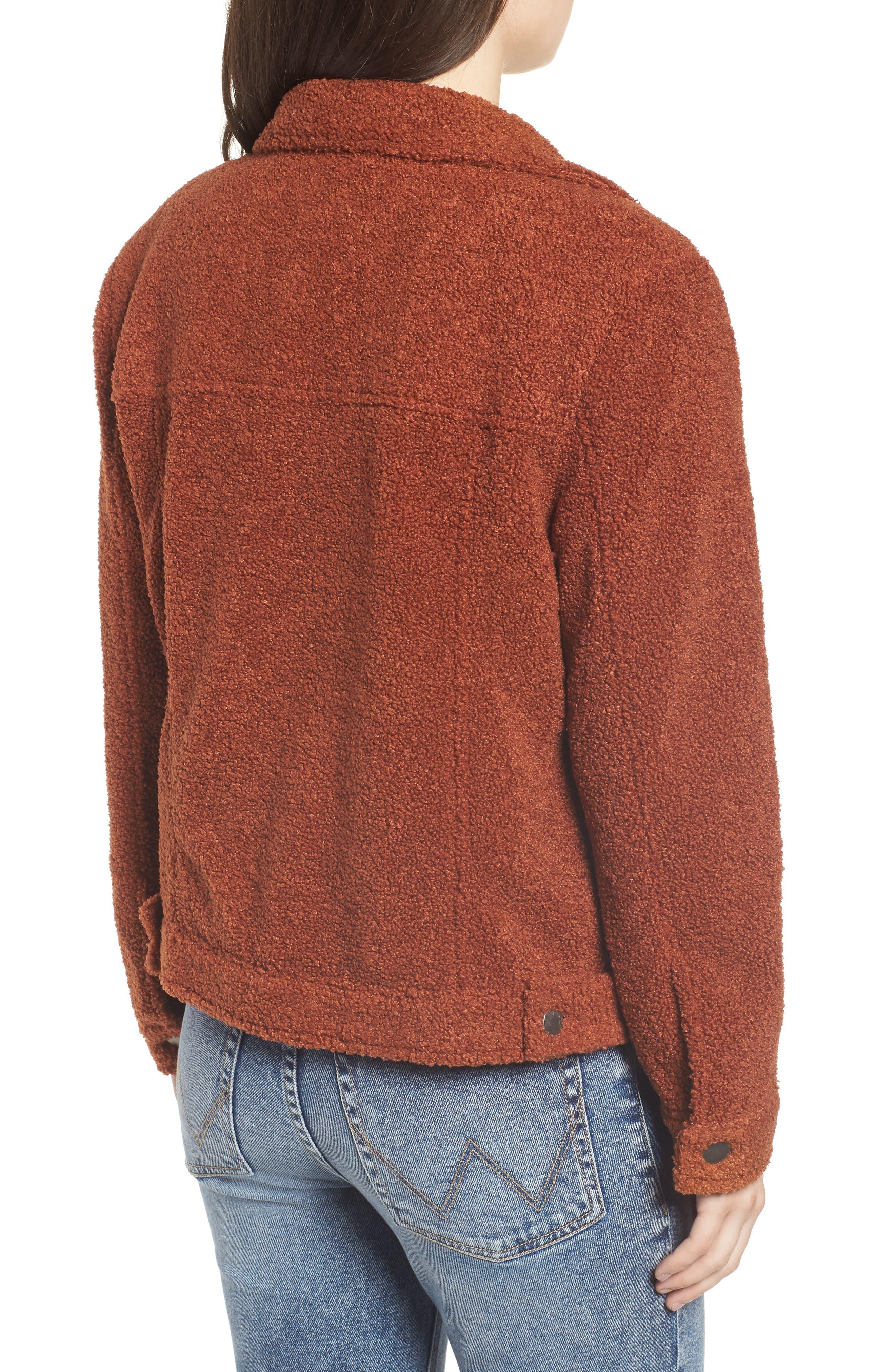BP.,                             Faux Fur Trucker Jacket,                             Alternate thumbnail 2, color,                             221