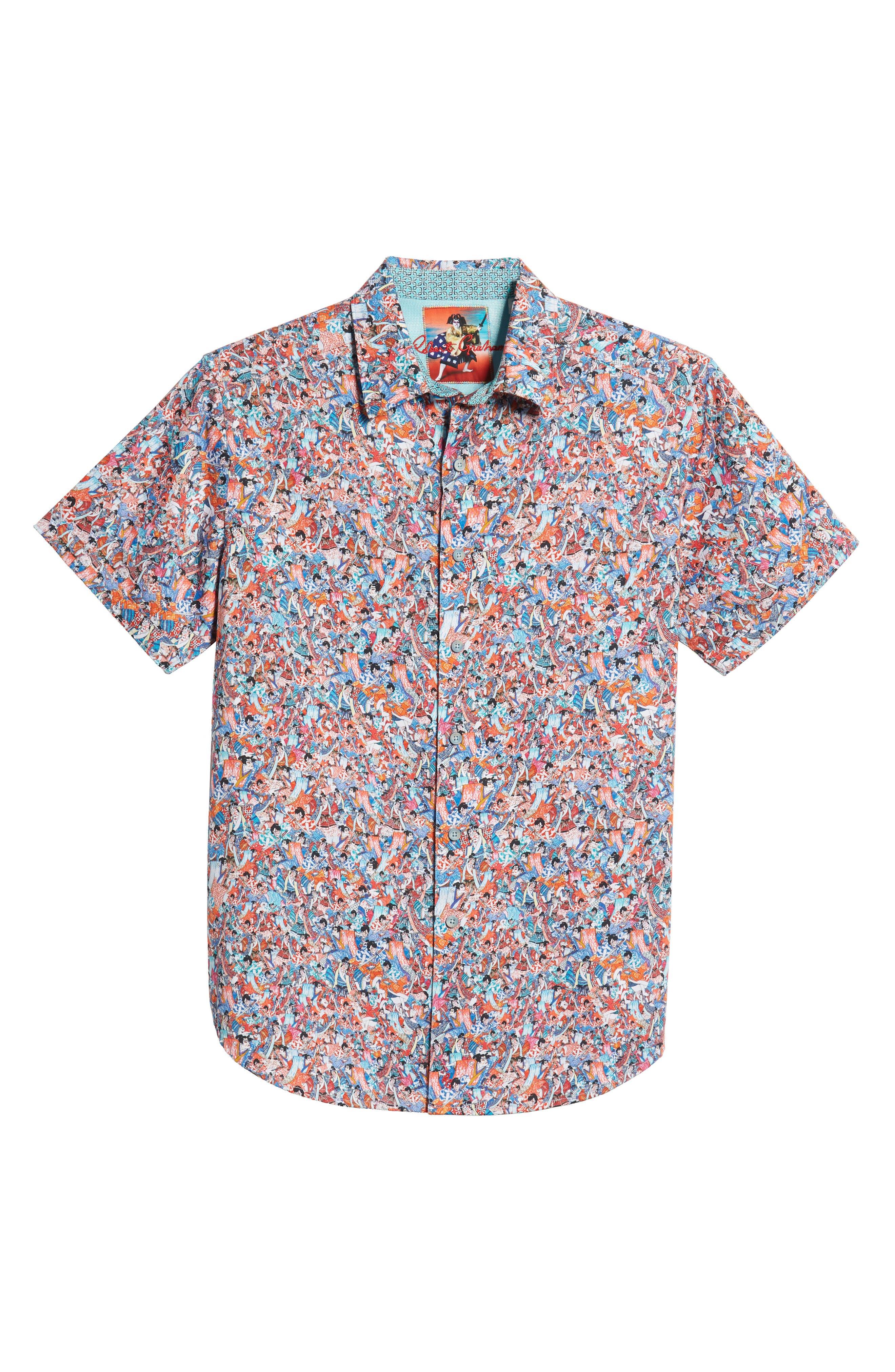Kabuki Classic Fit Sport Shirt,                             Alternate thumbnail 5, color,                             MULTI PINK
