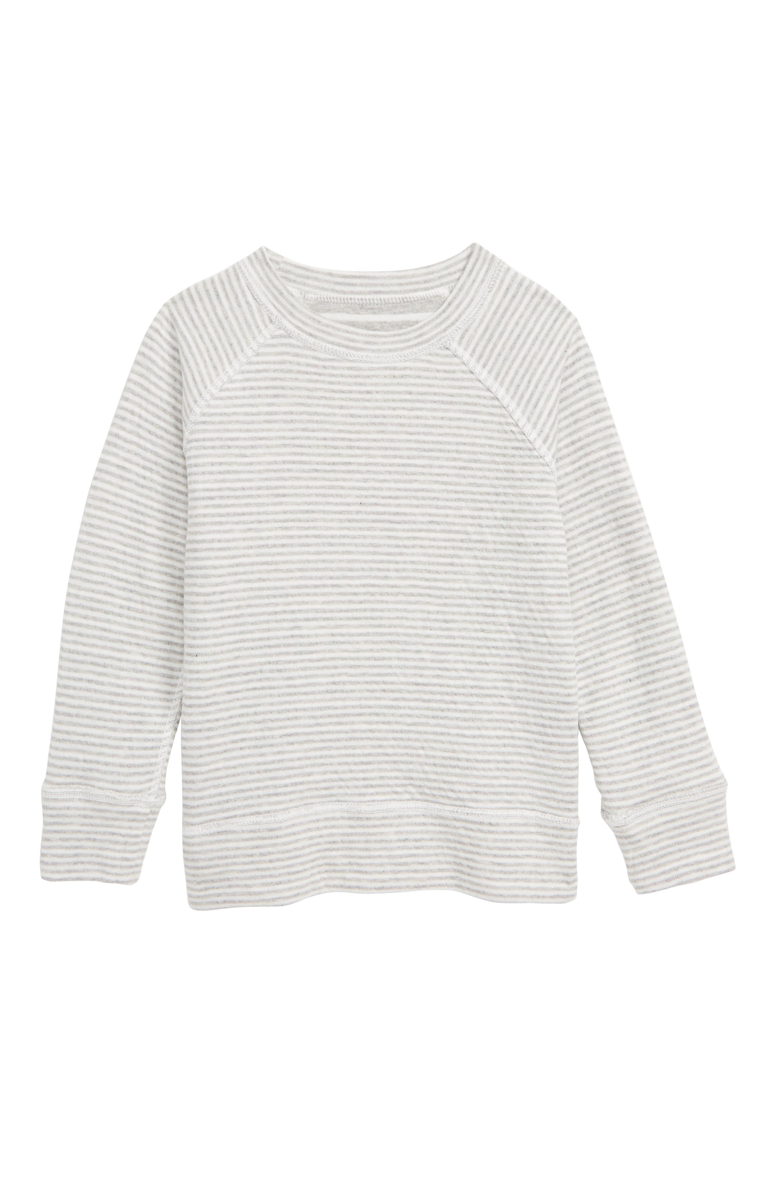 Double Layer Reversible T-Shirt,                             Alternate thumbnail 2, color,                             GREY MARL/ ECRU