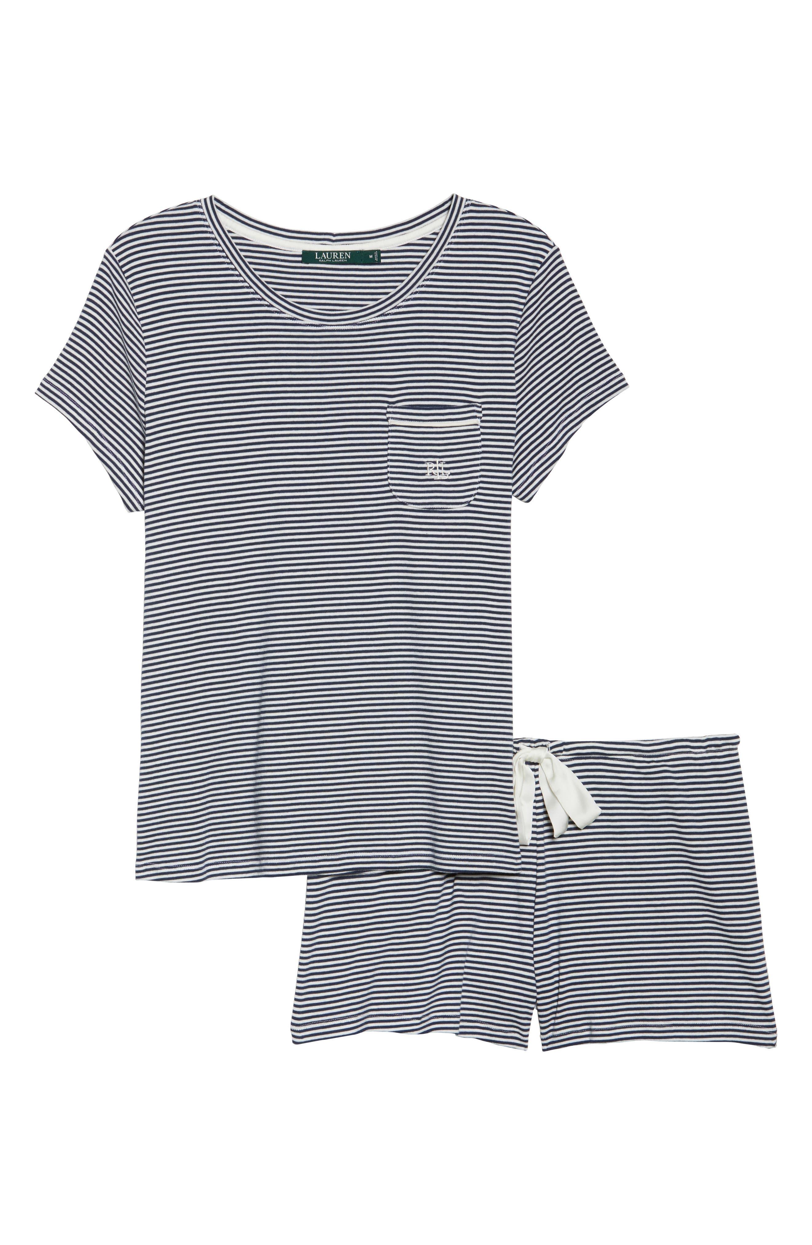 Jersey Short Pajamas,                             Alternate thumbnail 6, color,