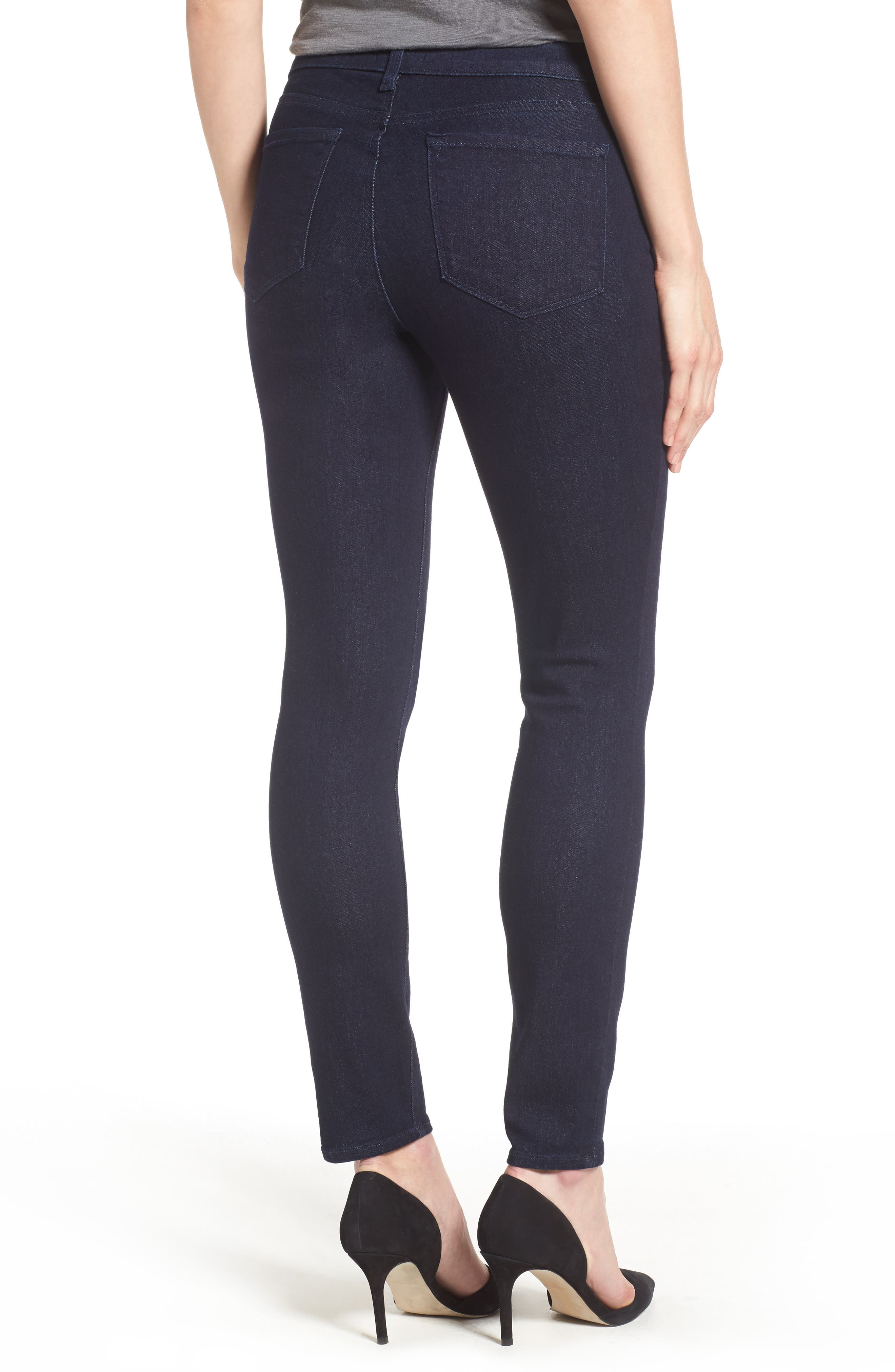 Ami High Waist Stretch Skinny Jeans,                             Alternate thumbnail 2, color,                             RINSE