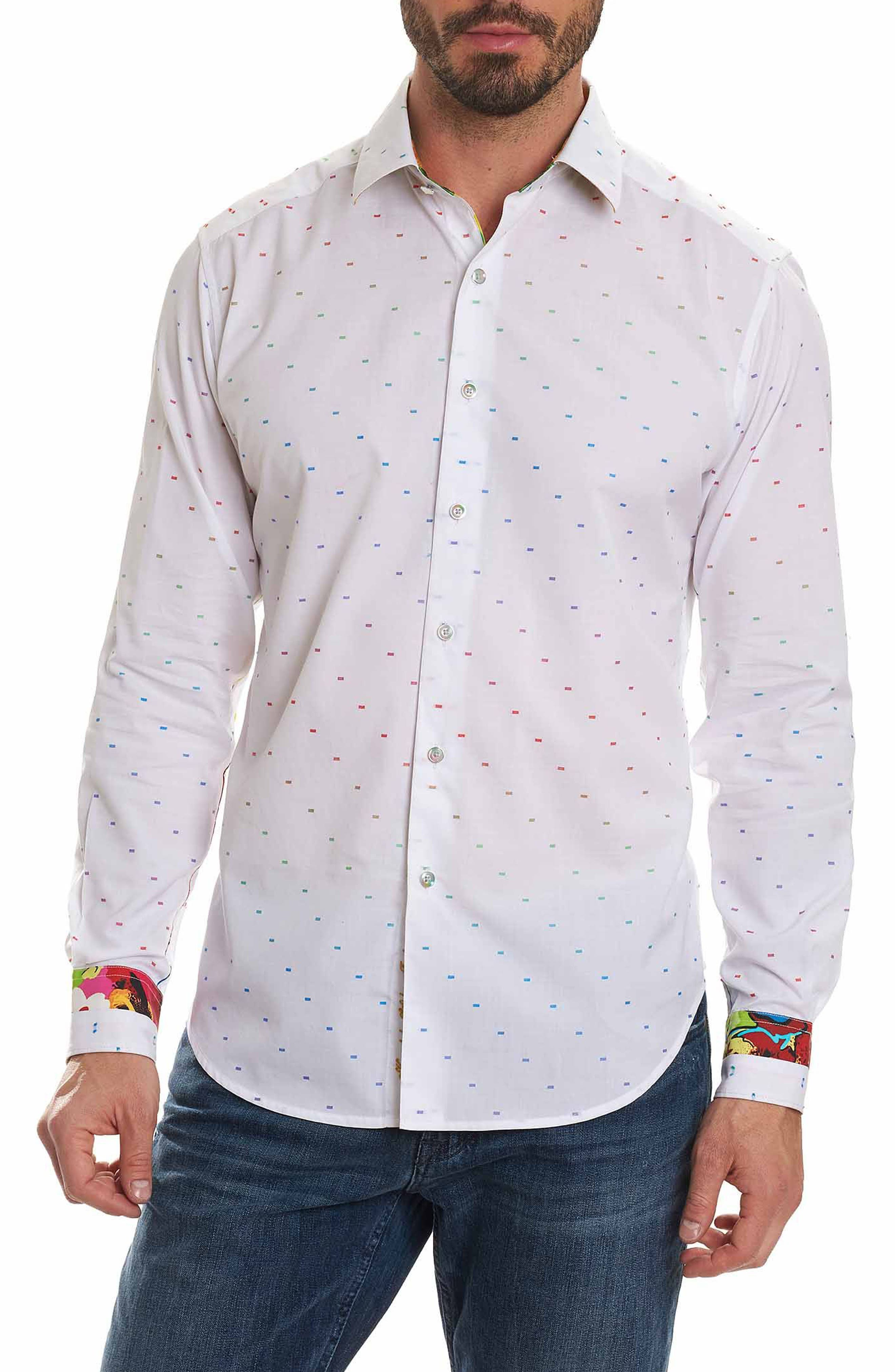 Karyan Classic Fit Jacquard Sport Shirt,                         Main,                         color, 100