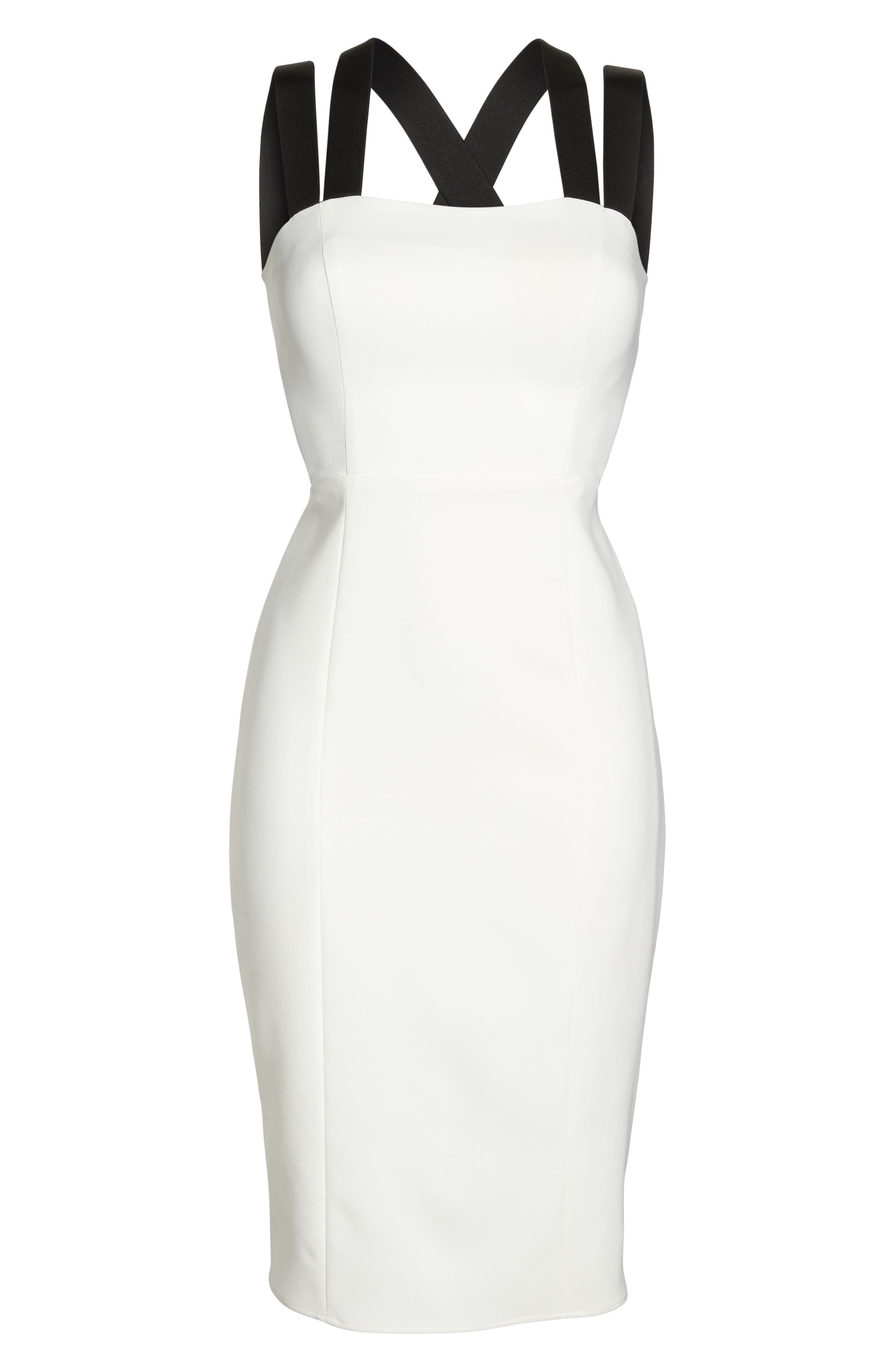 Kate Elastic Strap Cutout Sheath Dress,                             Alternate thumbnail 6, color,                             902
