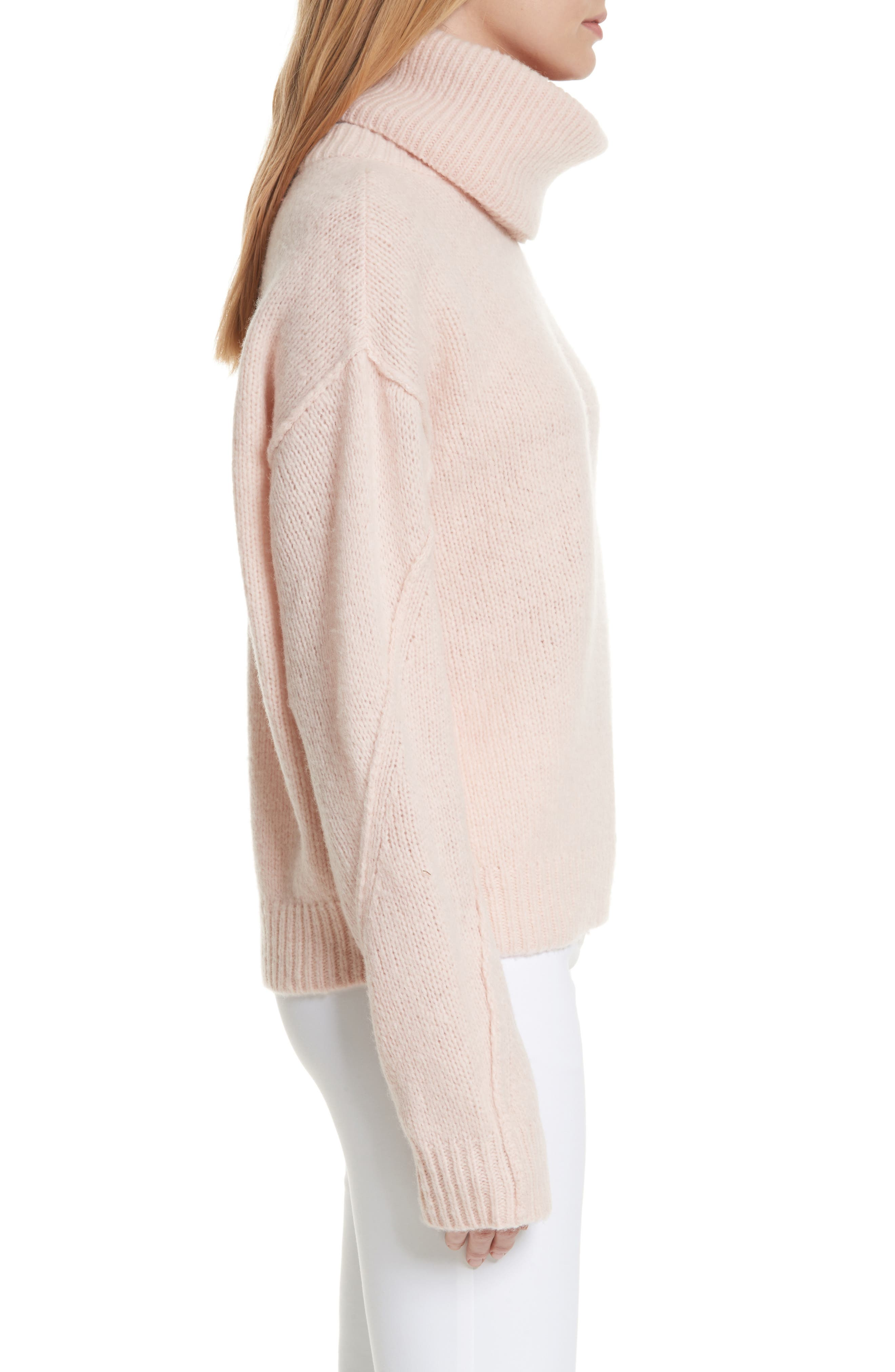 Eva Sweater with Removable Turtleneck,                             Alternate thumbnail 3, color,                             650