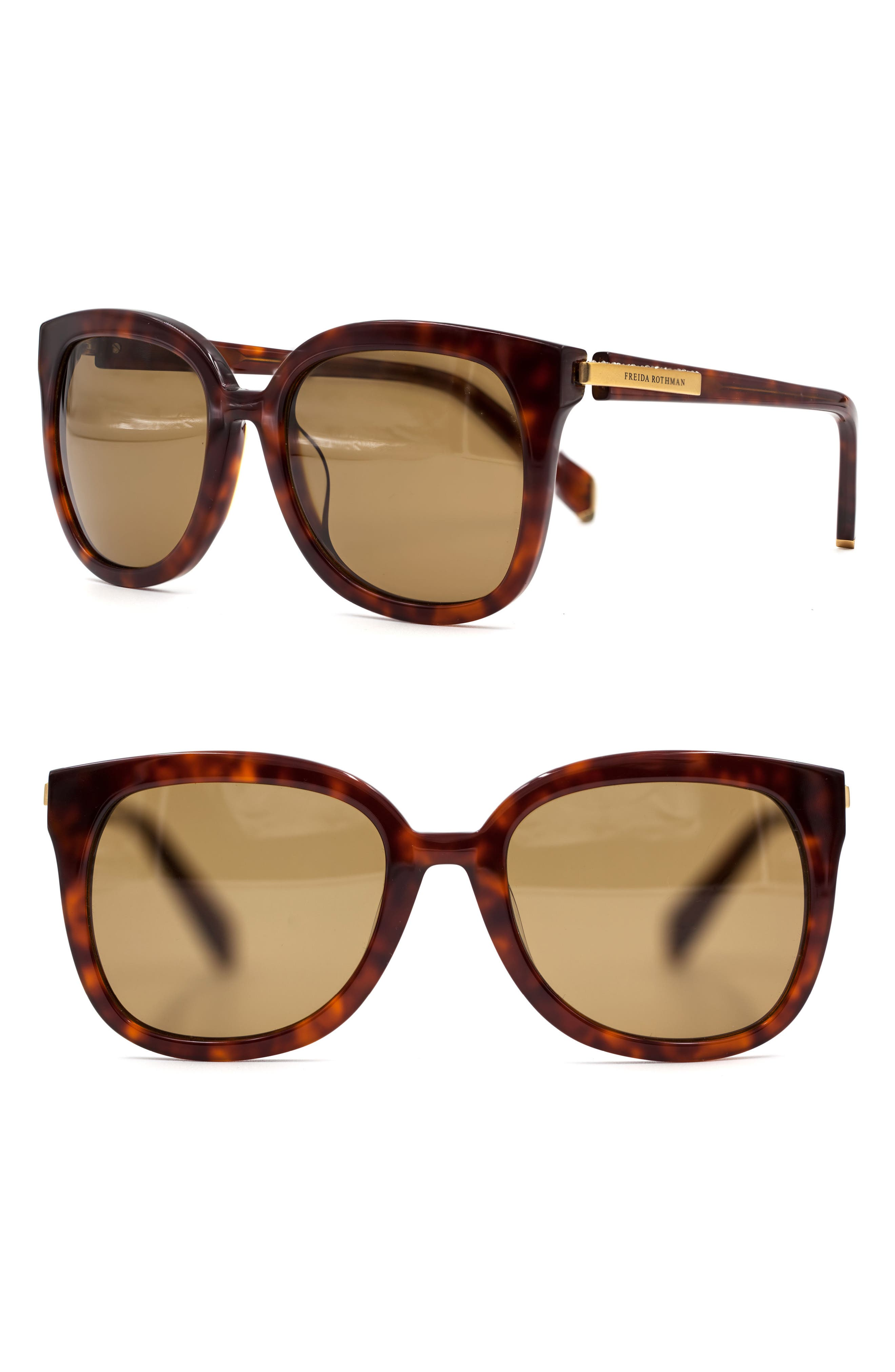 Brynn 54mm Butterfly Sunglasses,                             Main thumbnail 2, color,