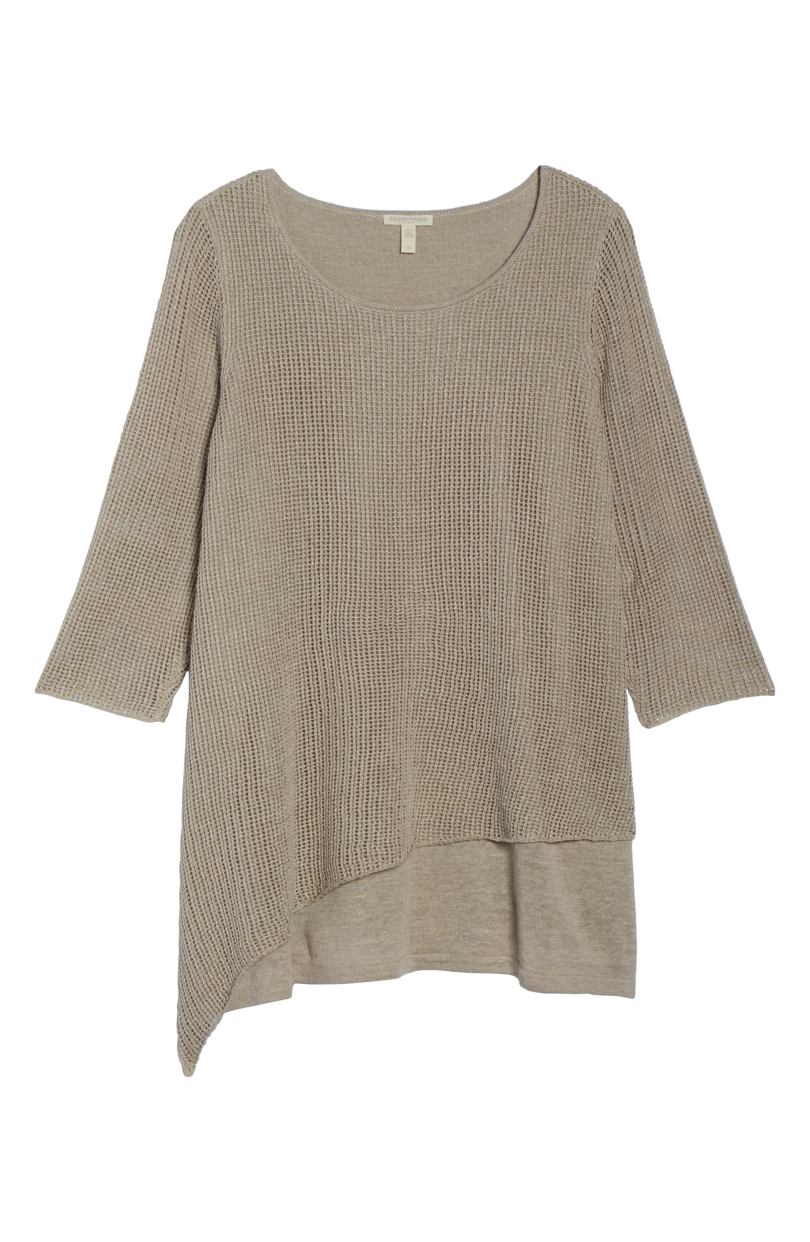 Layered Organic Linen Tunic Sweater,                             Alternate thumbnail 7, color,                             251