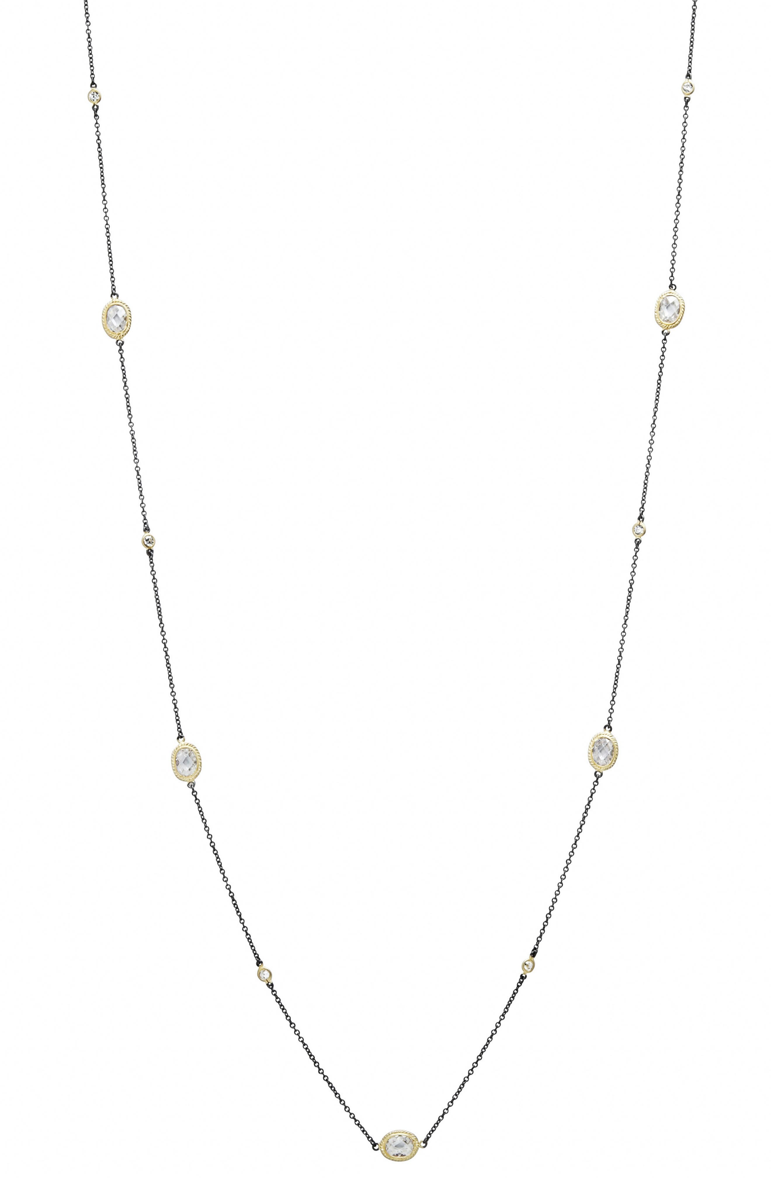 Signature Radiance Wrap Necklace,                             Main thumbnail 1, color,                             GOLD/ BLACK