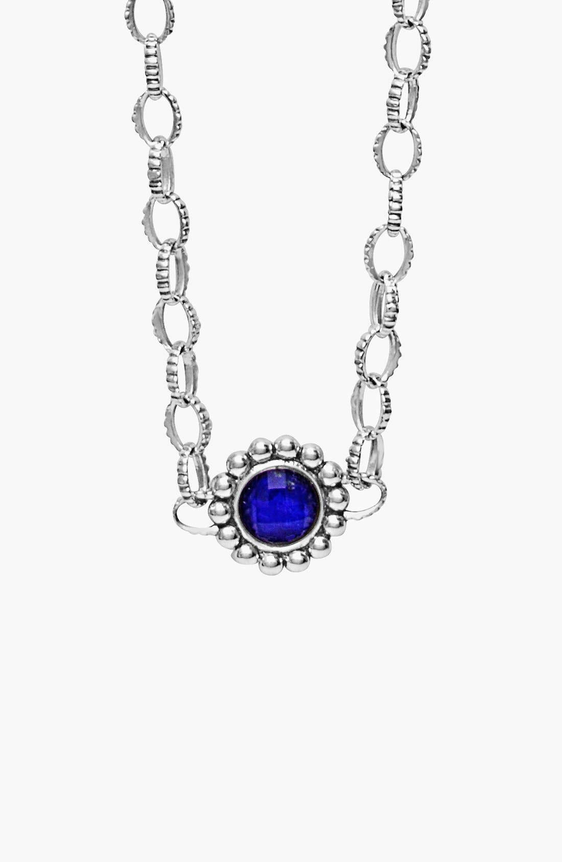 'Maya' Station Necklace,                             Alternate thumbnail 2, color,                             BLUE