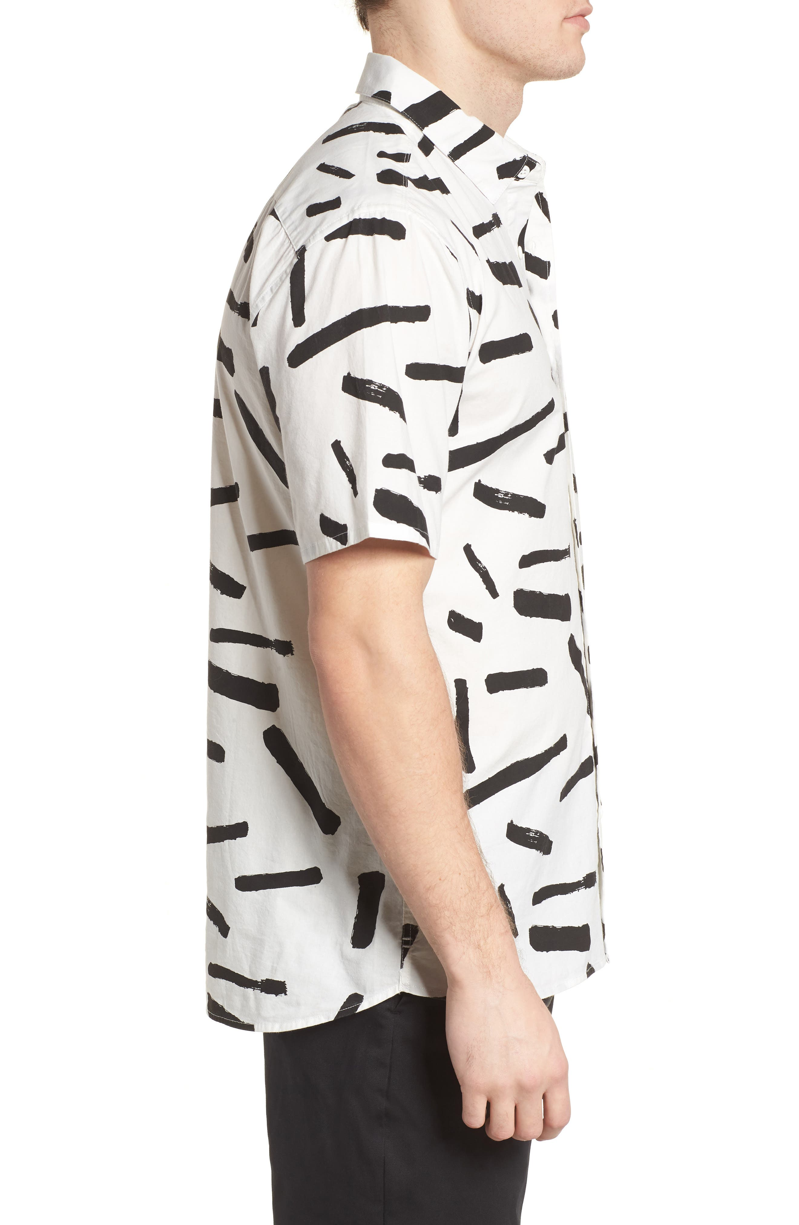 Print Short Sleeve Shirt,                             Alternate thumbnail 9, color,