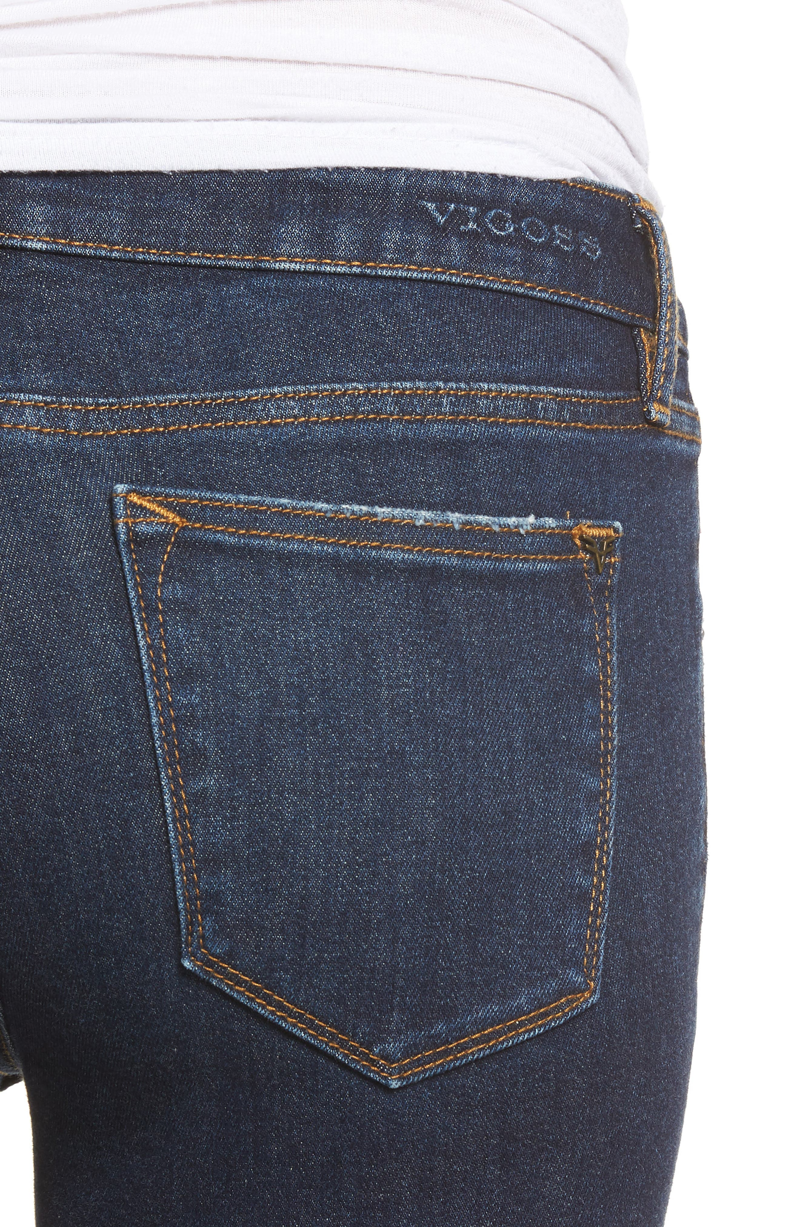 VIGOSS,                             Jagger Ripped Skinny Jeans,                             Alternate thumbnail 4, color,                             403