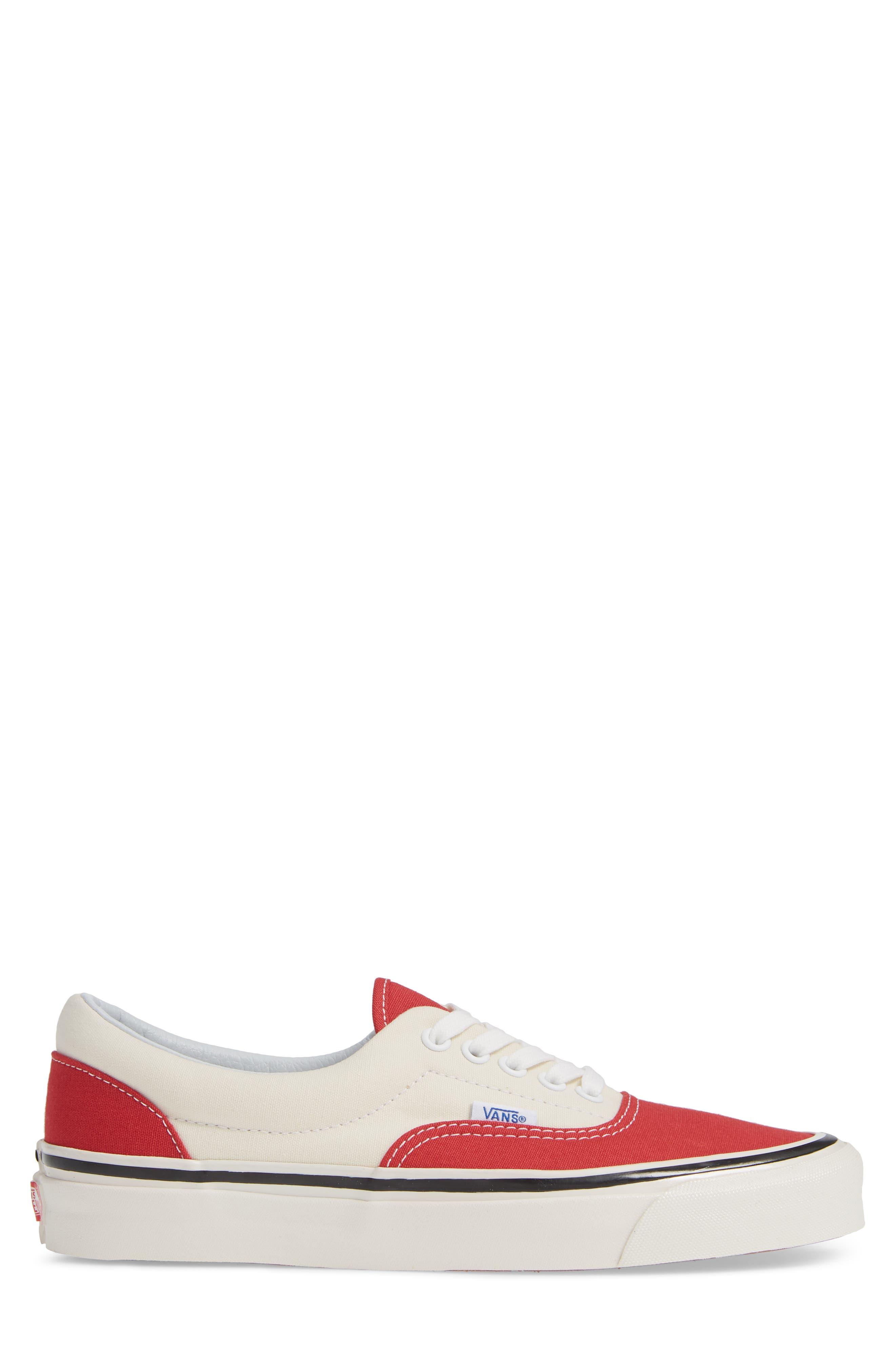 Anaheim Factory Era 95 DX Sneaker,                             Alternate thumbnail 3, color,                             OG RED/ OG WHITE CANVAS