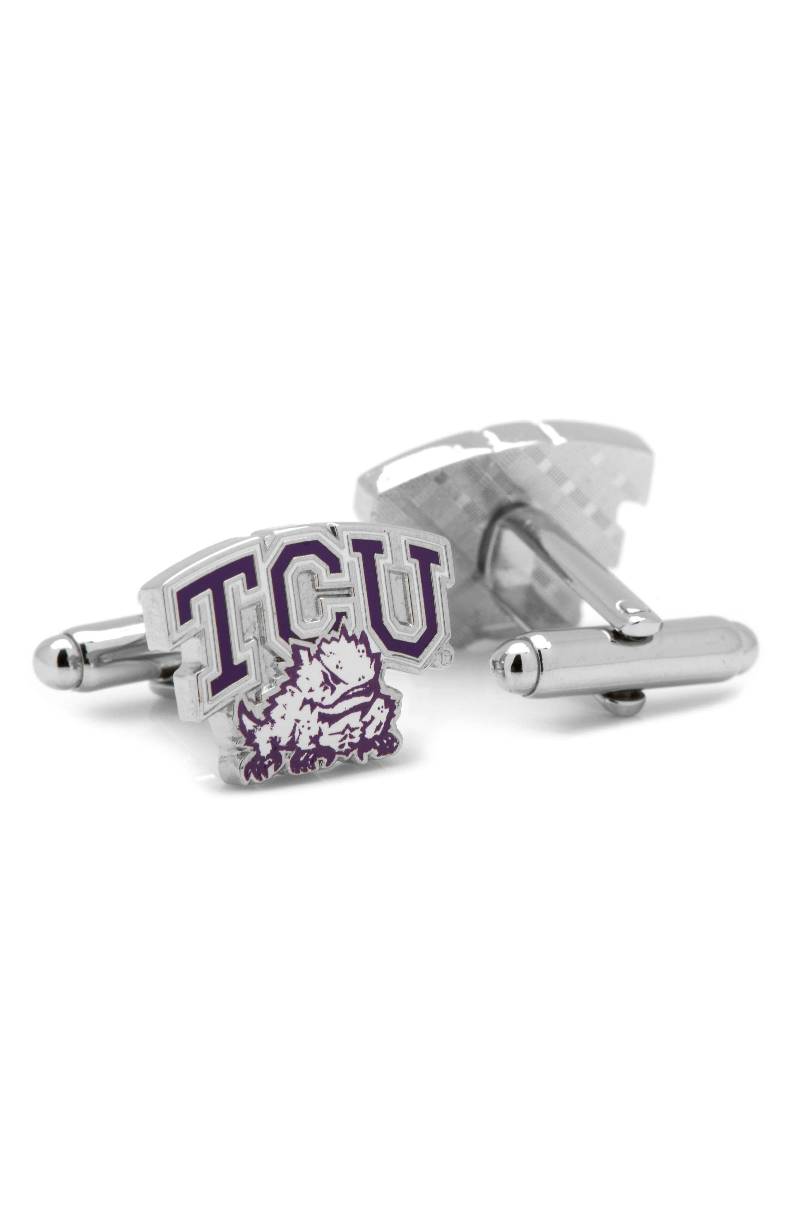TCU Horned Frogs Cuff Links,                             Alternate thumbnail 2, color,                             PURPLE