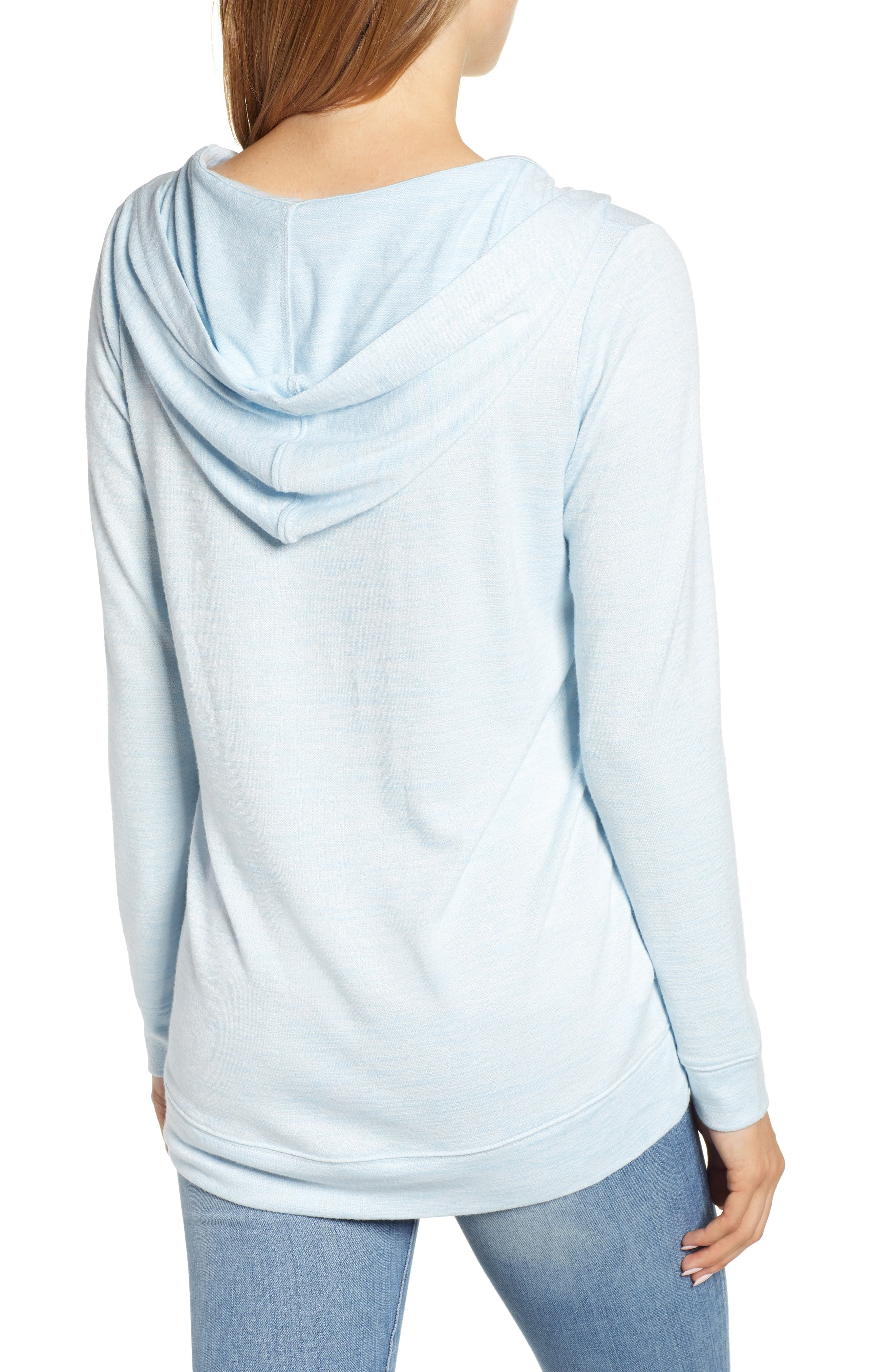 Soft Jersey Hoodie Top,                             Alternate thumbnail 2, color,                             BLUE