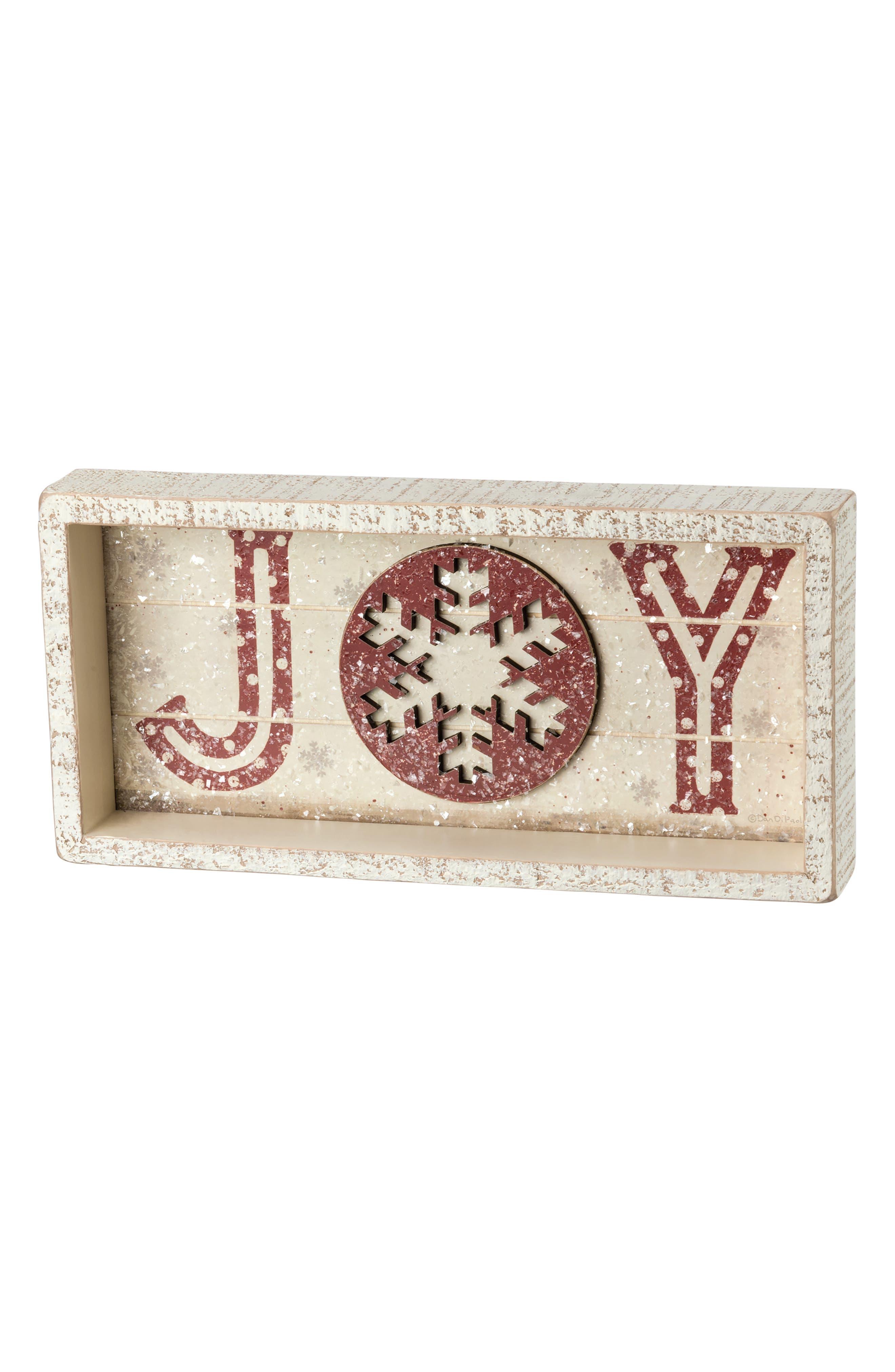 Joy Shadow Box Sign,                             Main thumbnail 1, color,                             900