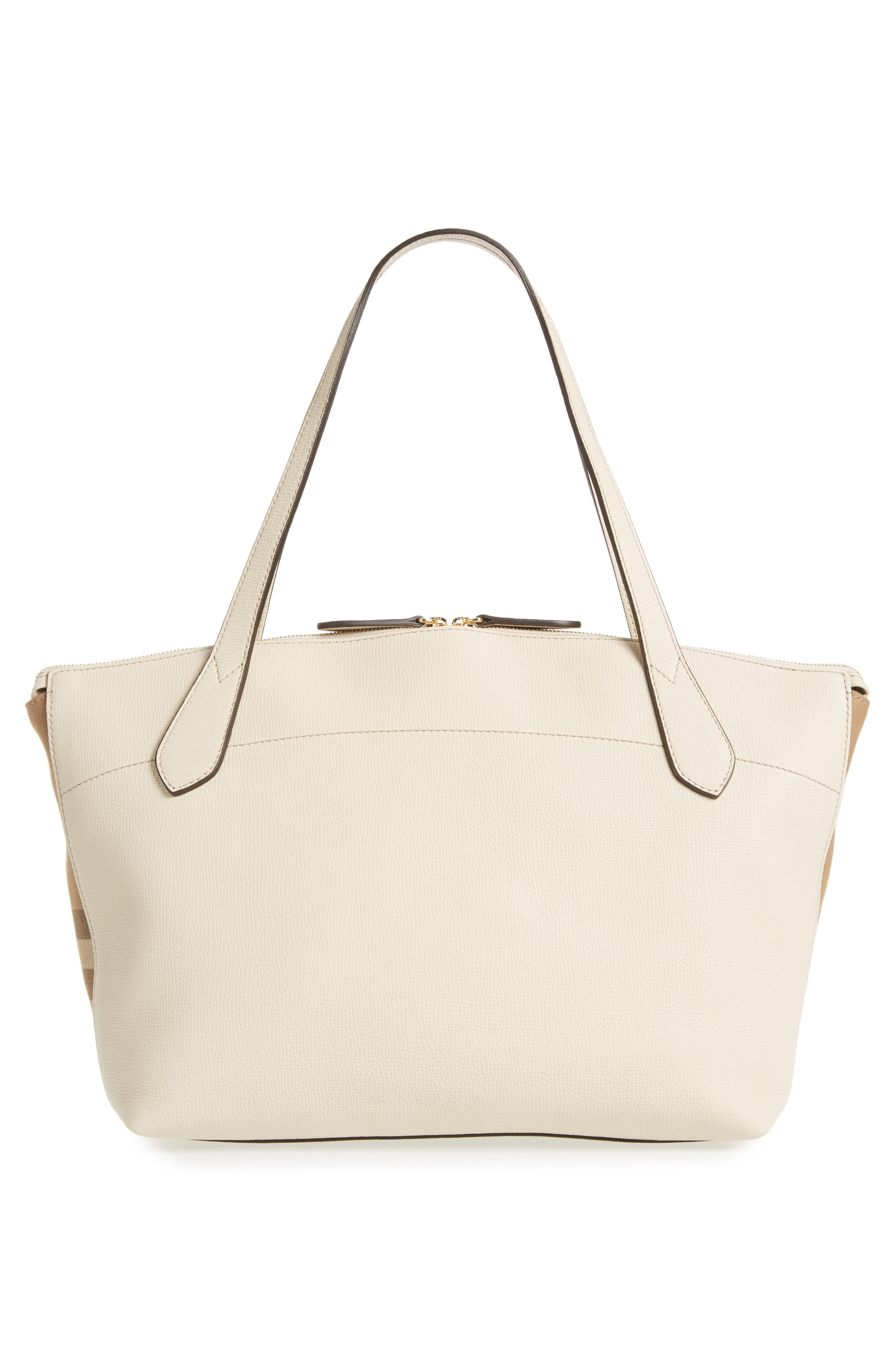 Welburn House Check & Leather Tote,                             Alternate thumbnail 3, color,                             900