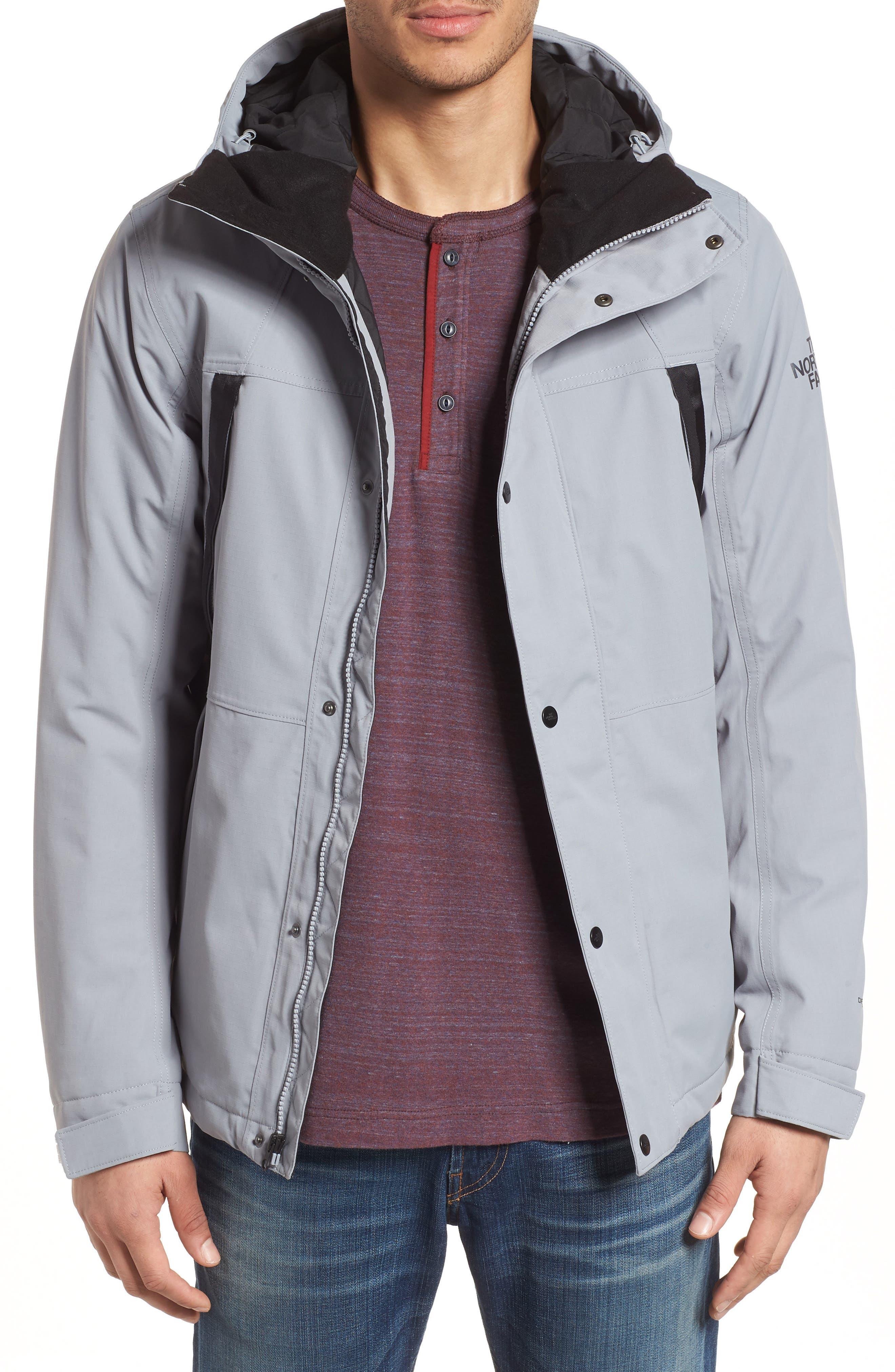 Stetler Insulated Rain Jacket,                             Main thumbnail 1, color,                             MID GREY