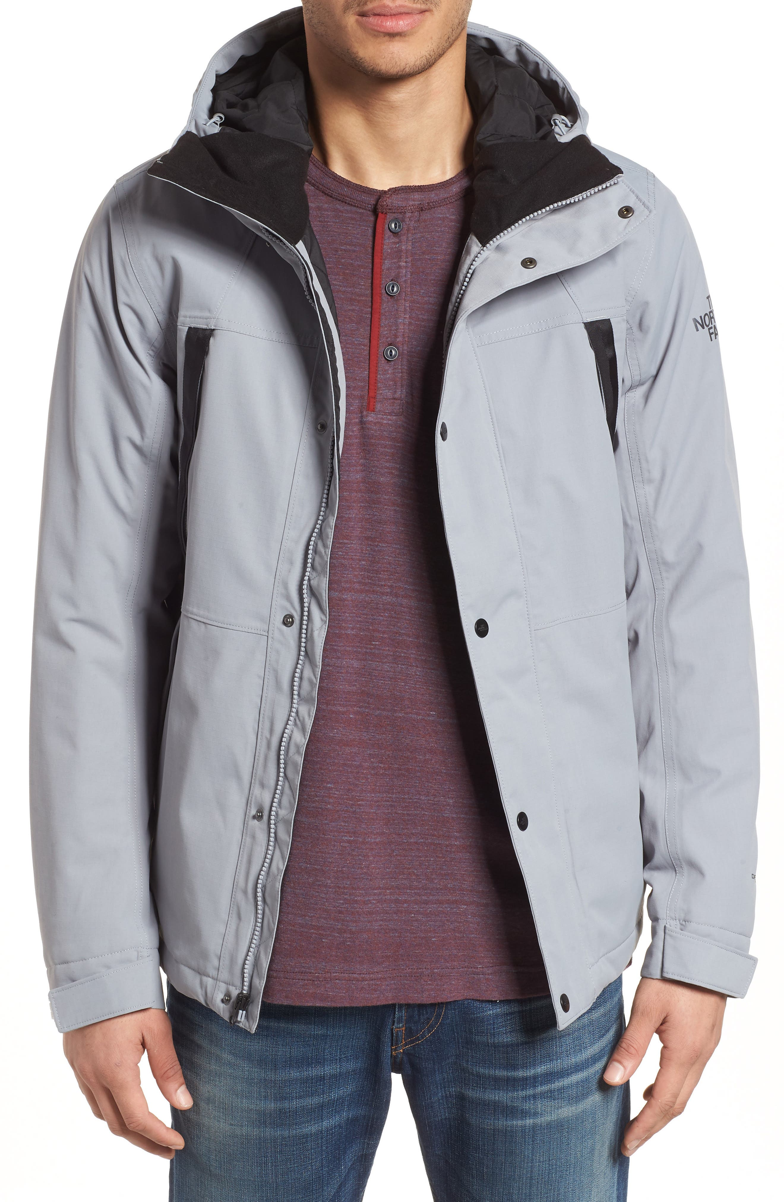 Stetler Insulated Rain Jacket,                         Main,                         color, MID GREY