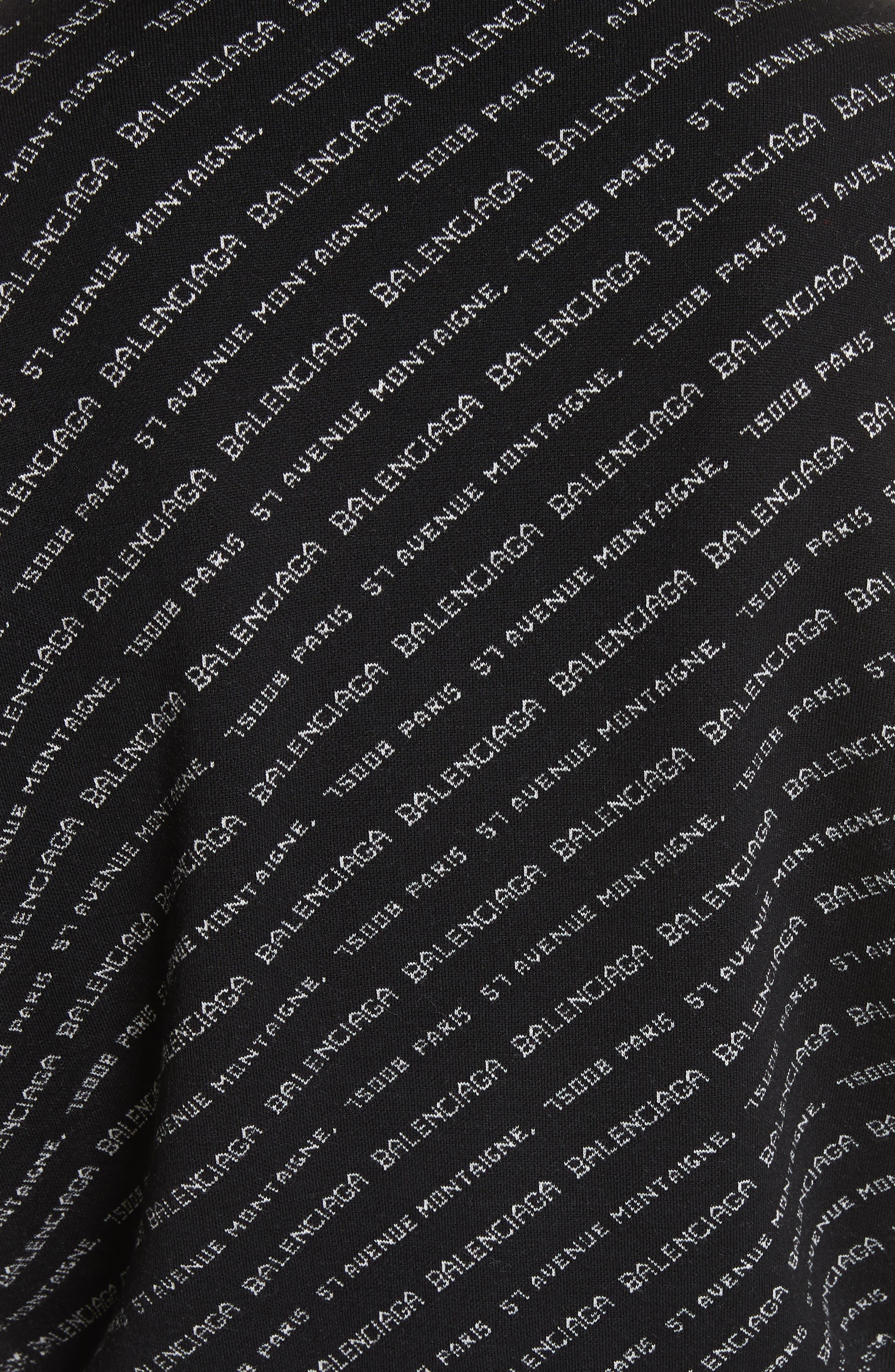 BALENCIAGA,                             Logo Knit Sweater,                             Alternate thumbnail 5, color,                             001