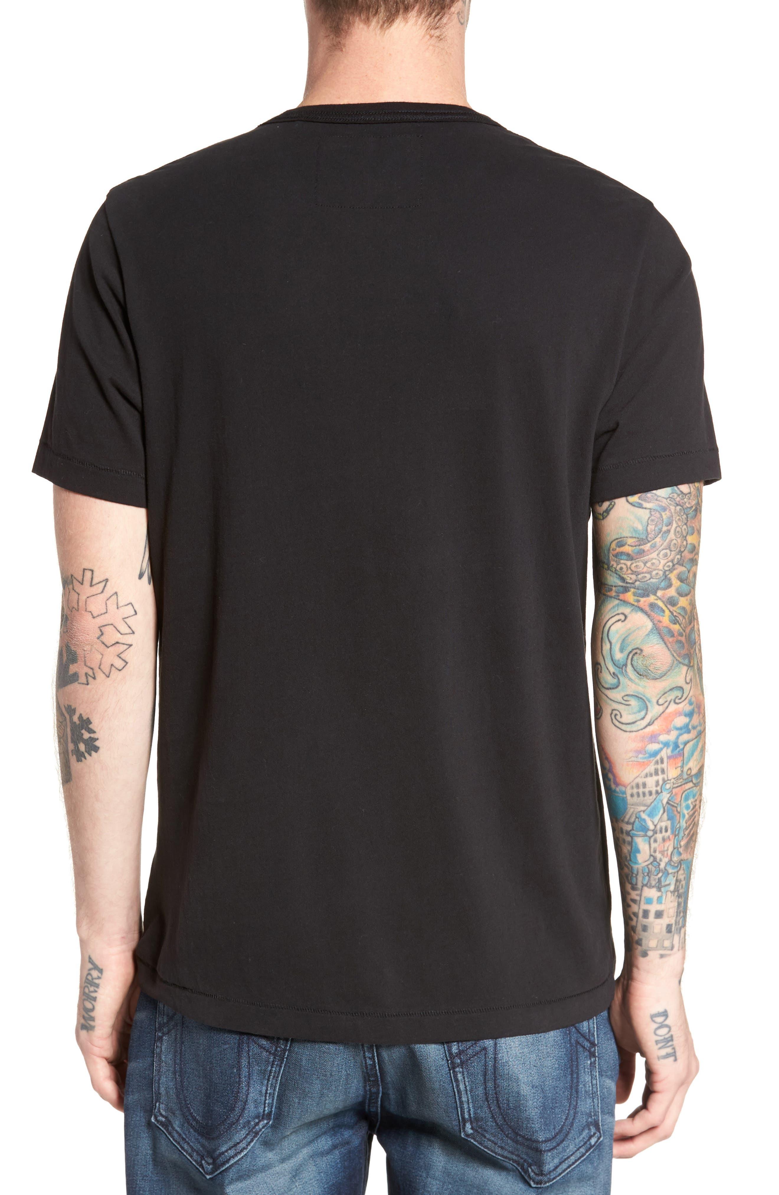 Metallic Logo T-Shirt,                             Alternate thumbnail 2, color,                             001