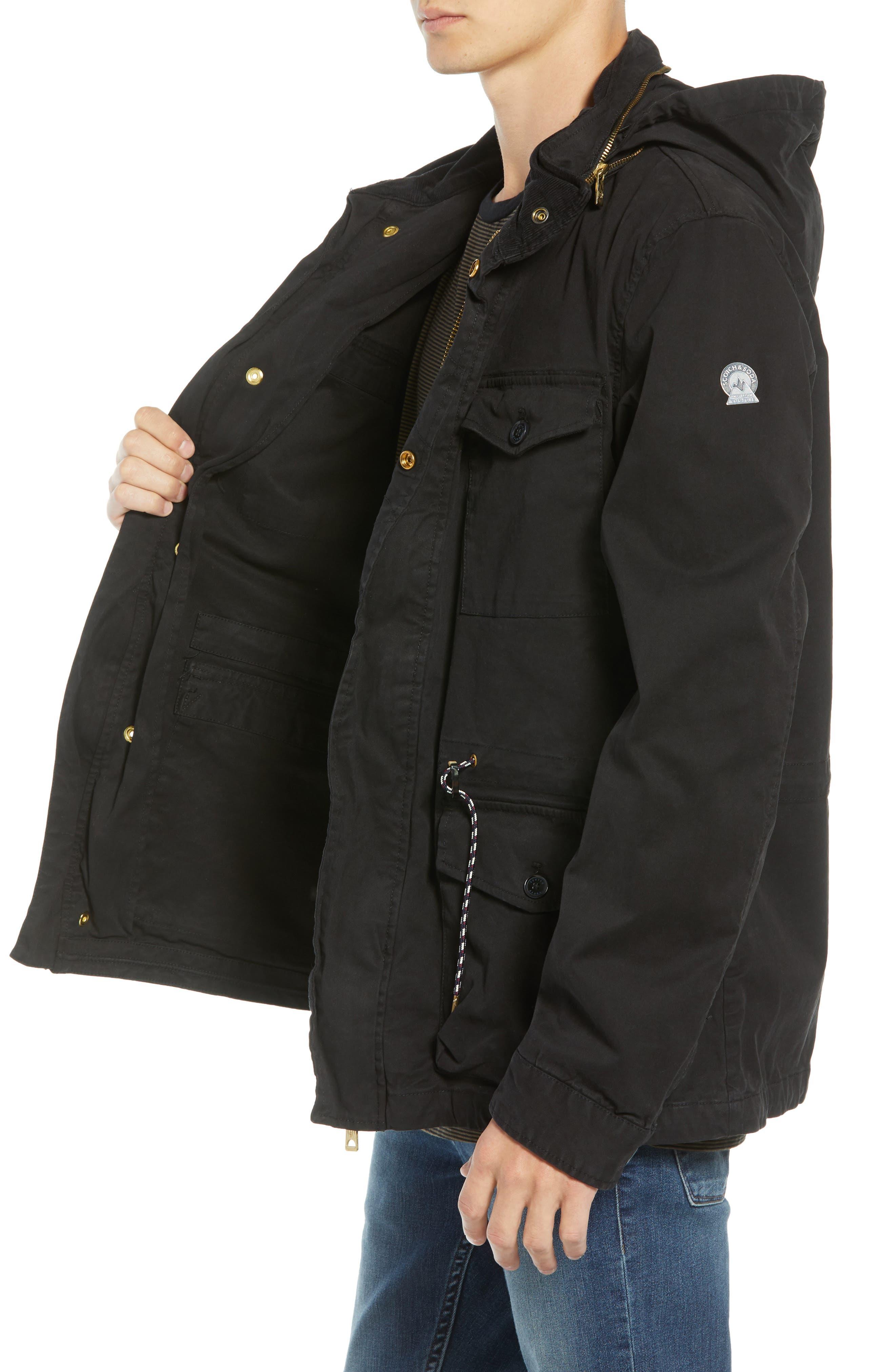 Garment Dyed Field Jacket,                             Alternate thumbnail 3, color,                             001