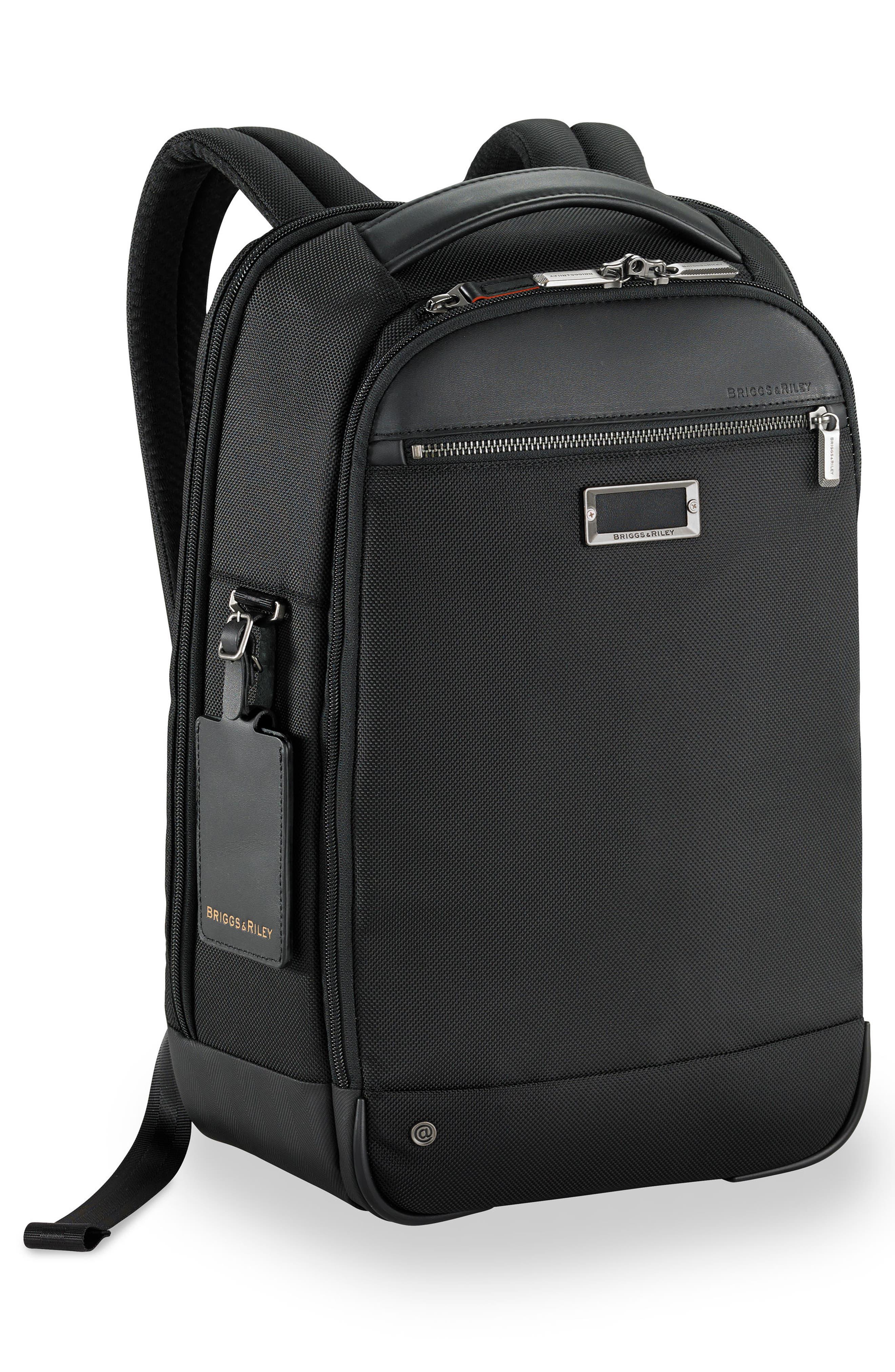 BRIGGS & RILEY,                             @work Medium Slim Backpack,                             Alternate thumbnail 3, color,                             NO_COLOR