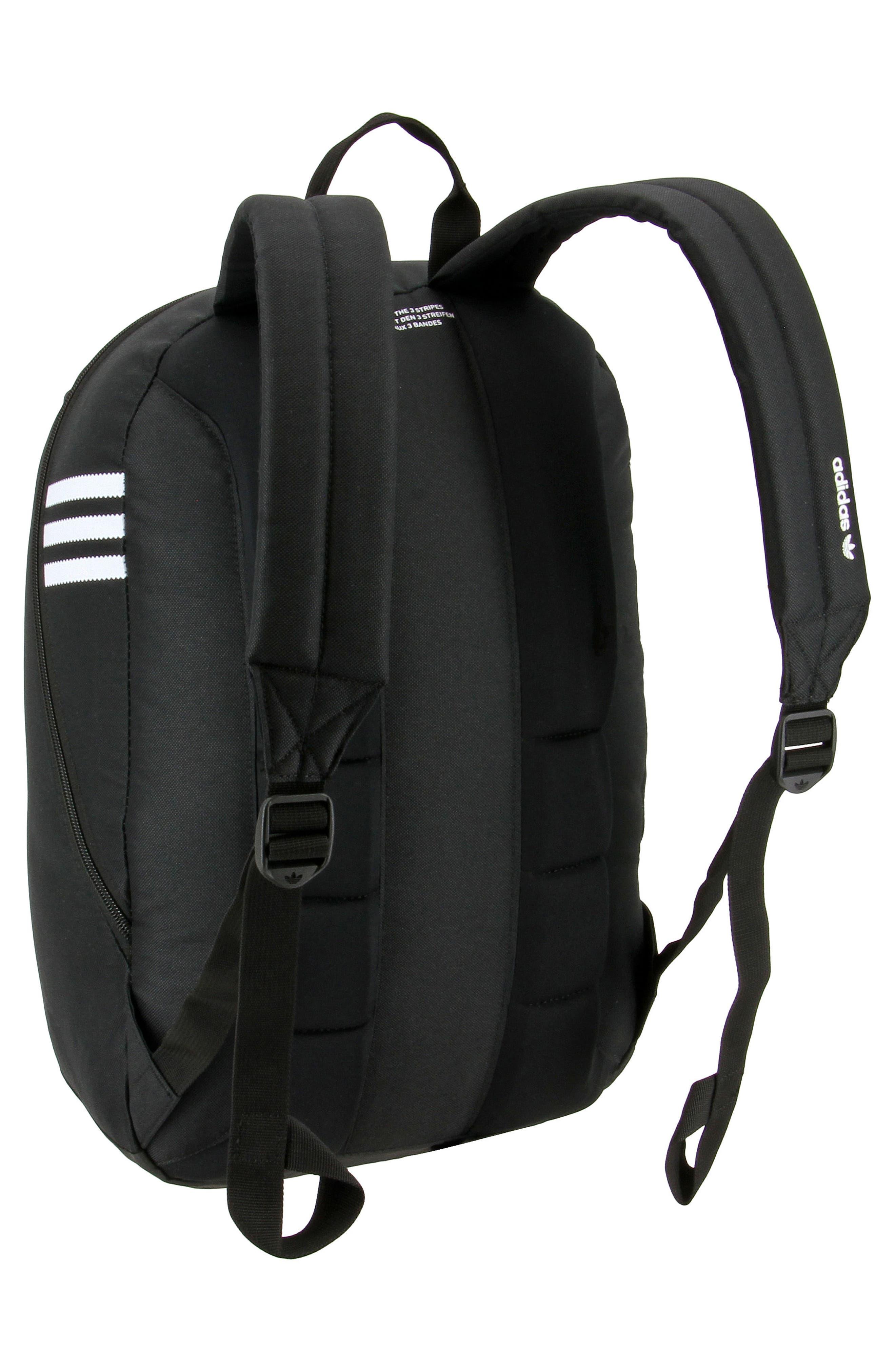 Originals Big Logo Backpack,                             Alternate thumbnail 2, color,                             BLACK/ WHITE