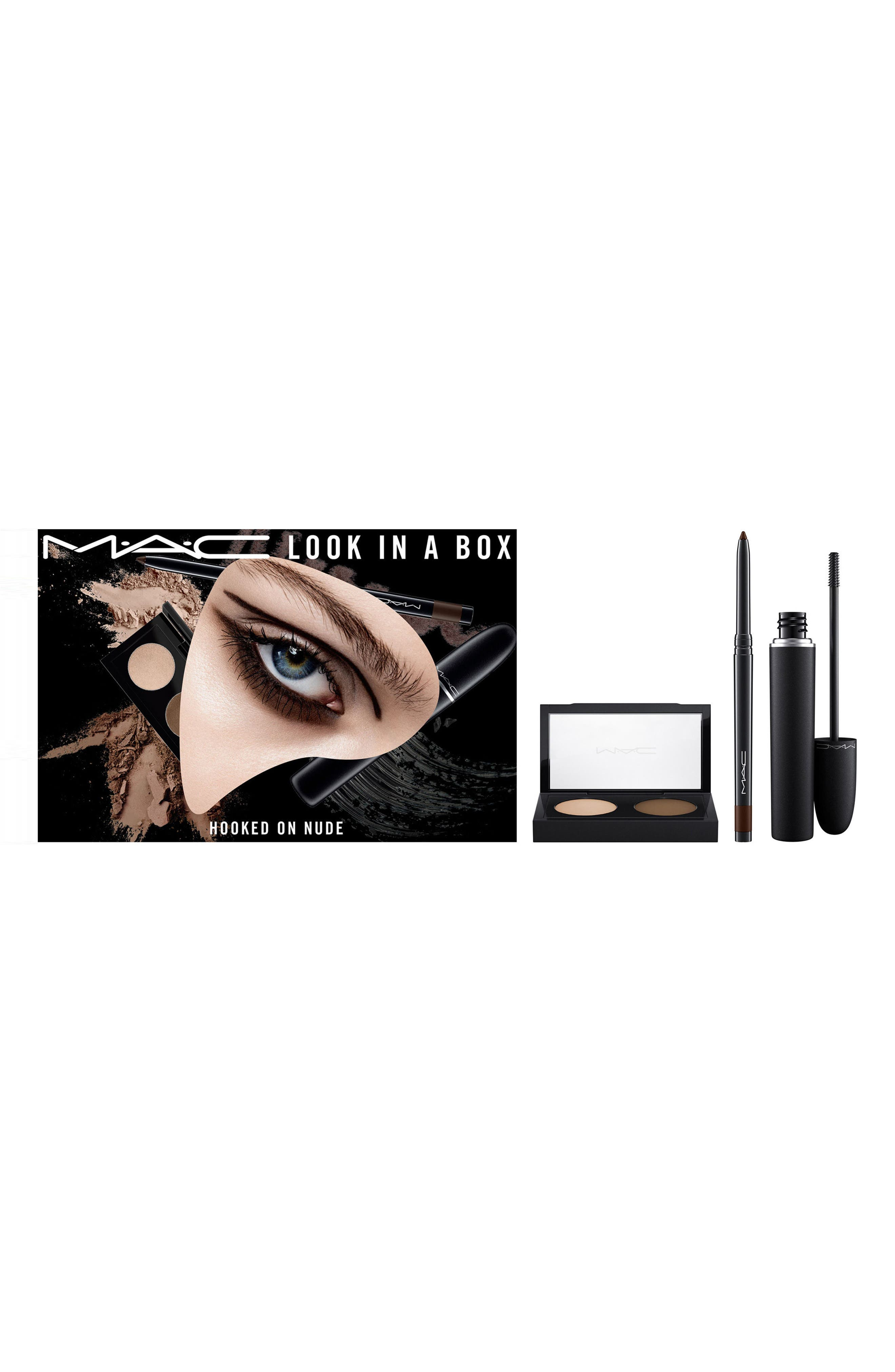 MAC COSMETICS,                             MAC Look in a Box Hooked On Nude Eye Kit,                             Alternate thumbnail 4, color,                             250