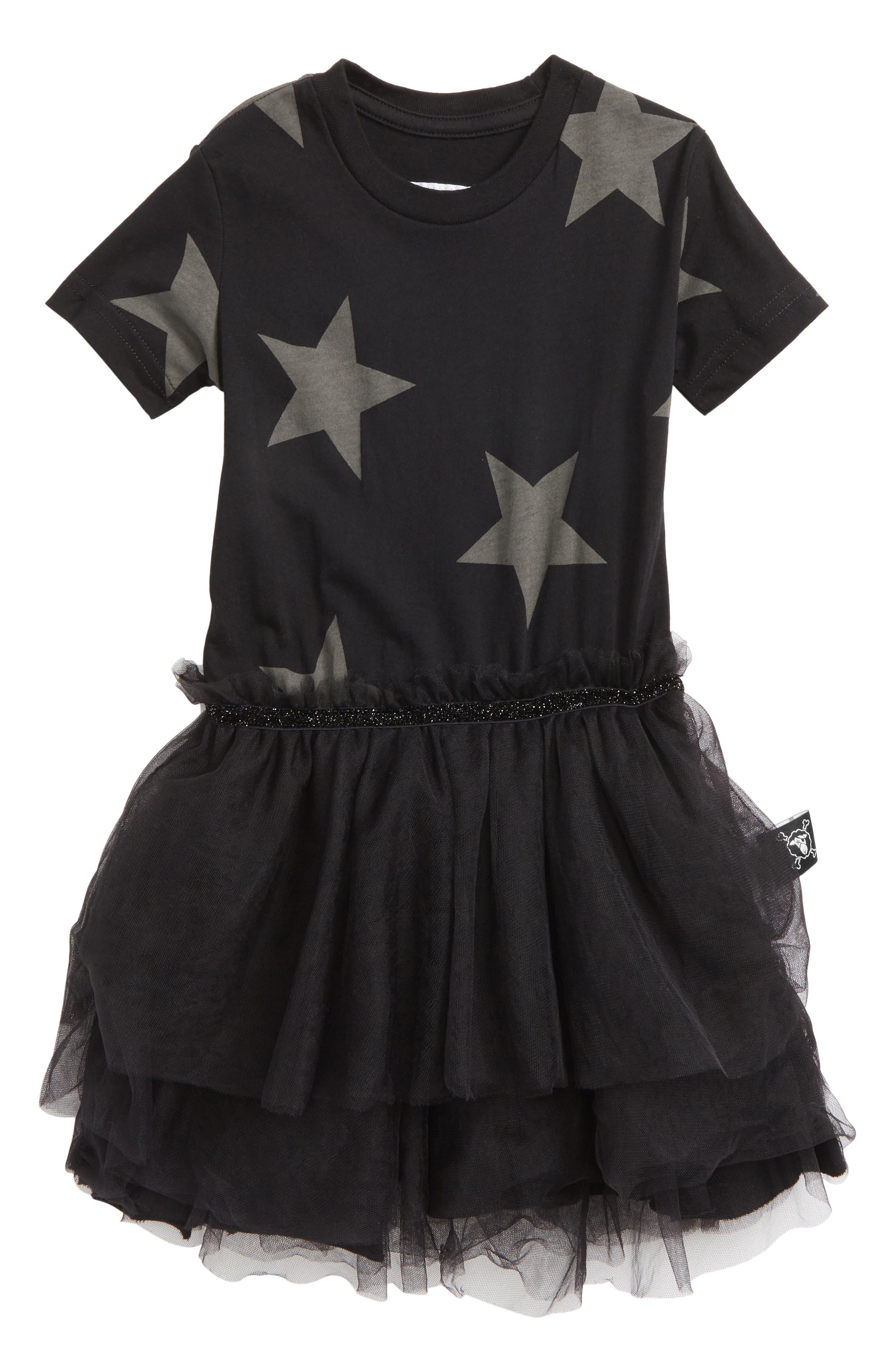 Star Tulle Dress,                             Main thumbnail 1, color,                             001