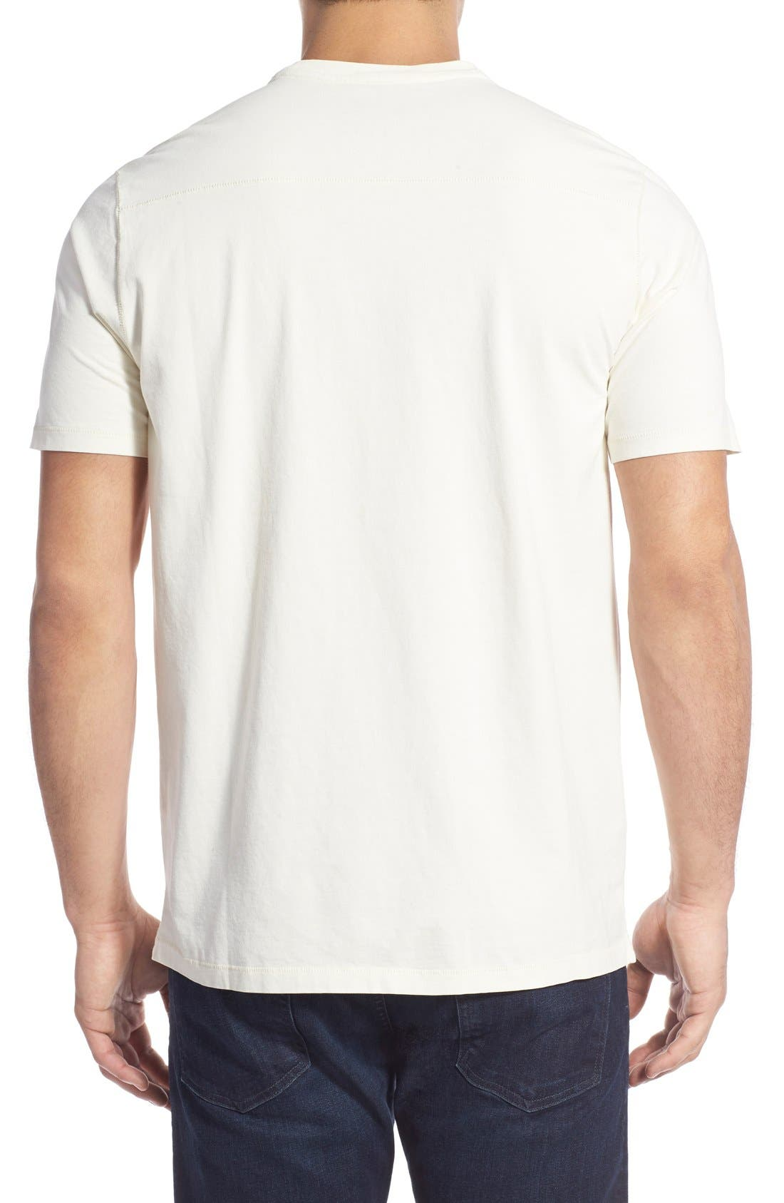 'New Bahama Reef' Island Modern Fit Pima Cotton Pocket T-Shirt,                             Alternate thumbnail 3, color,                             100