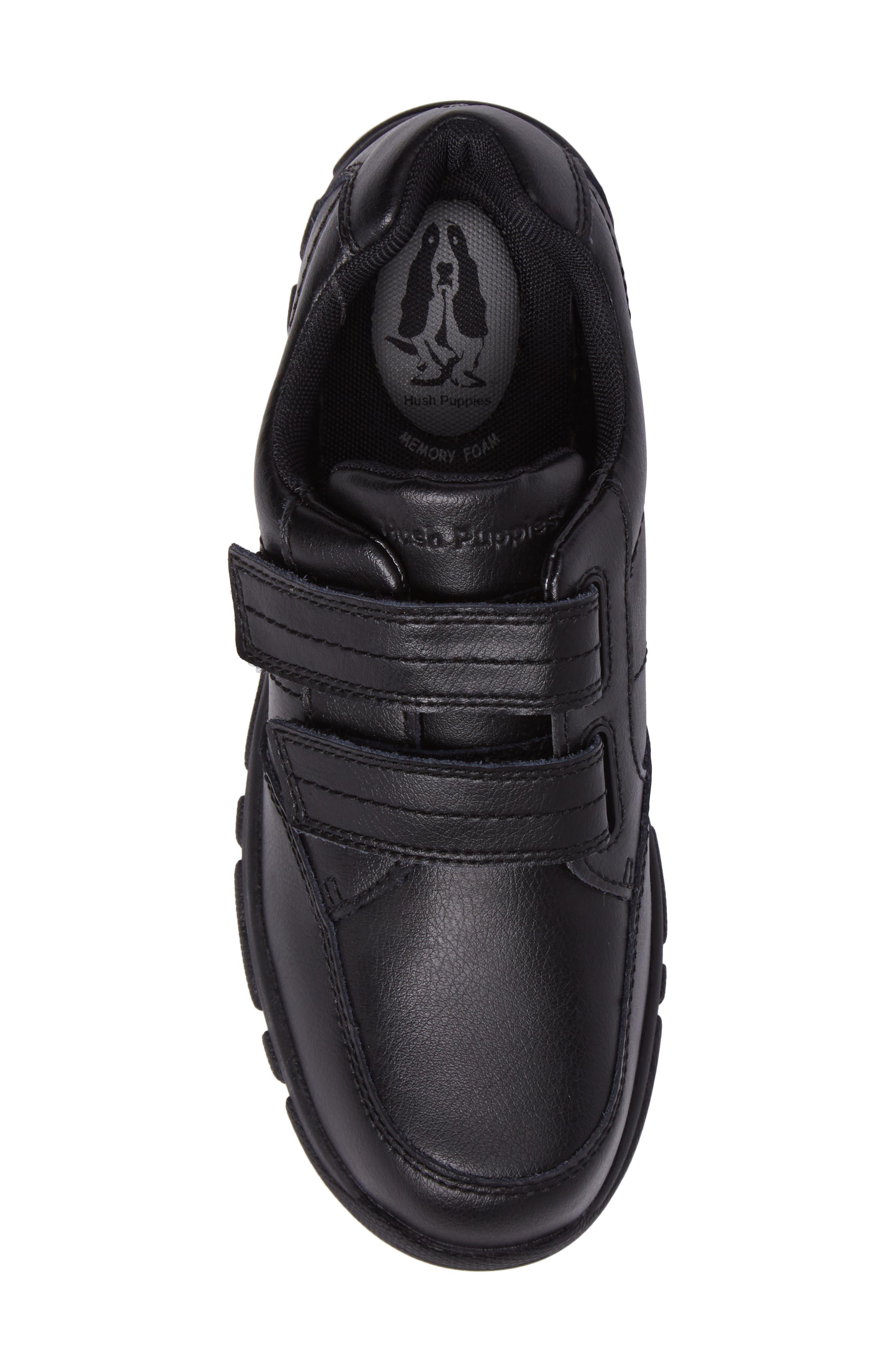 Jace Dress Sneaker,                             Alternate thumbnail 5, color,                             BLACK LEATHER